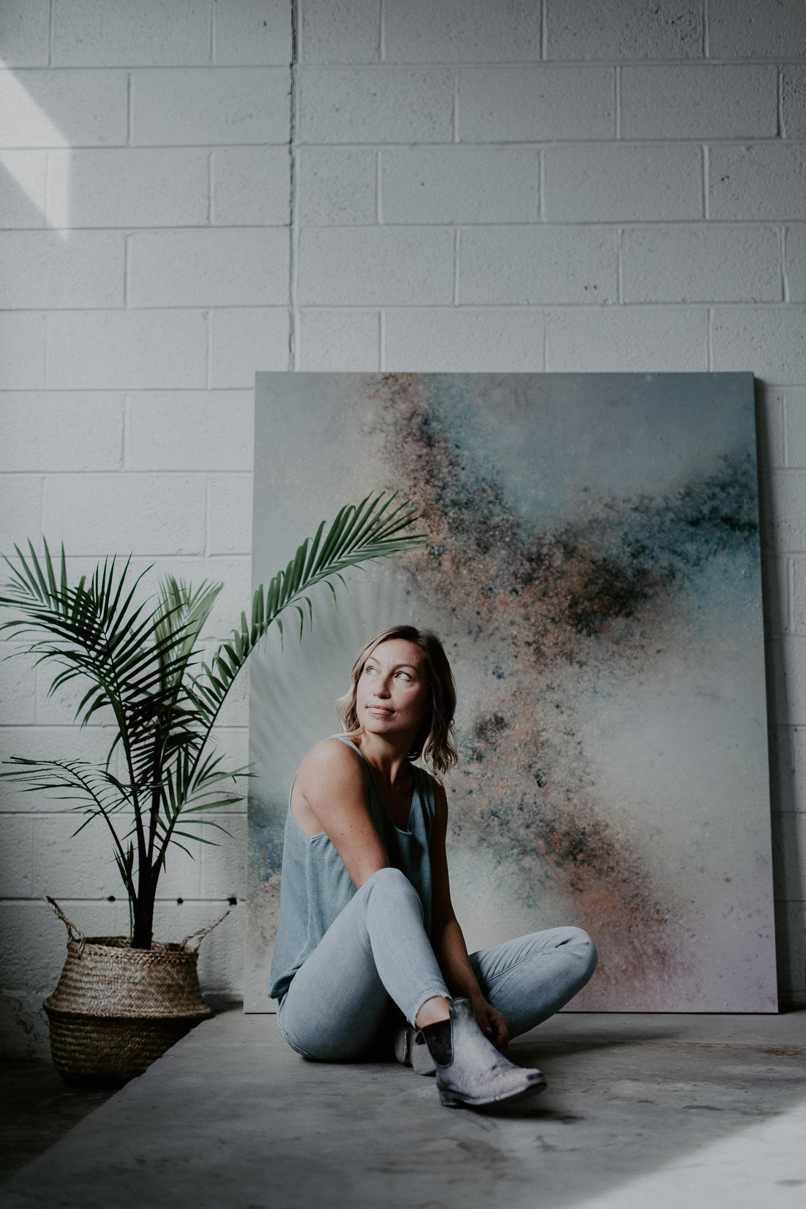 portrait session of an artist