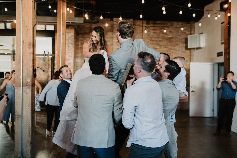 hora dance at the startup bulding