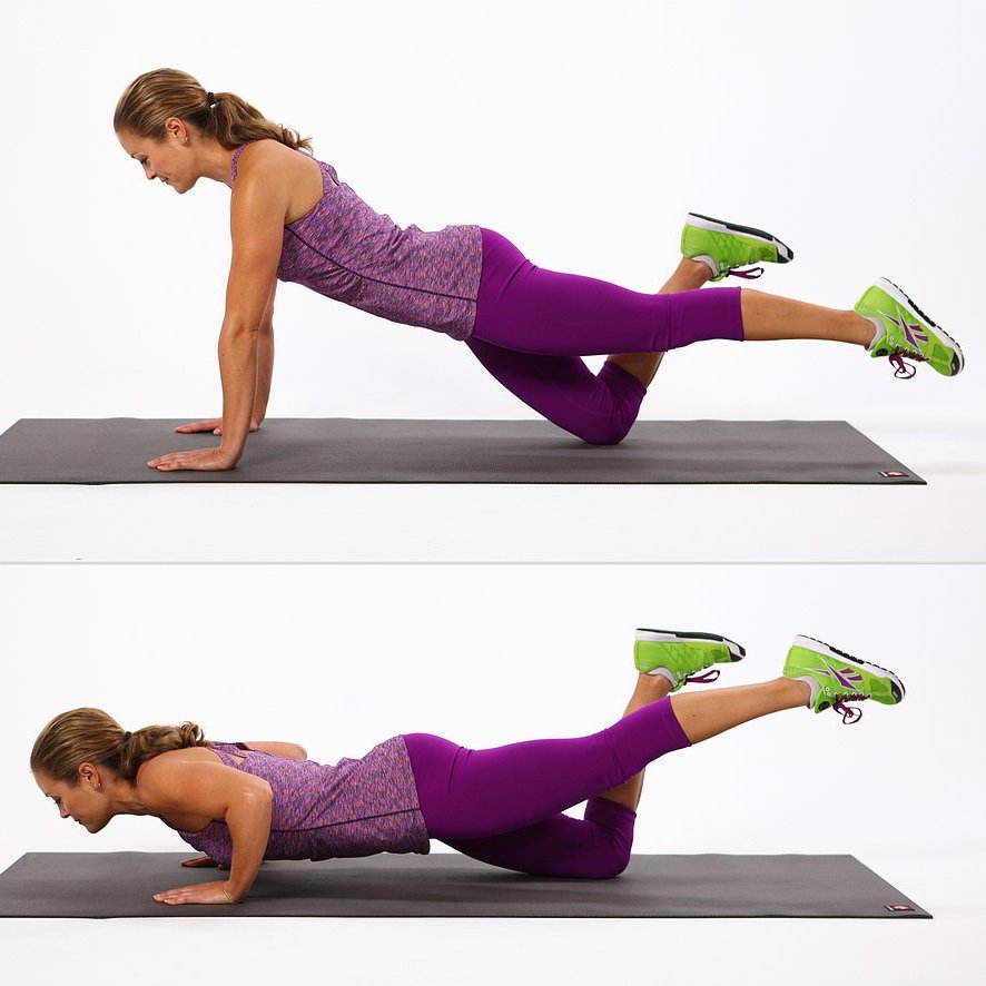 ONE-LEGGED PUSH-UPS