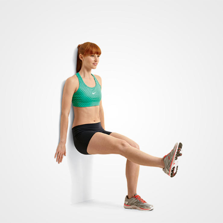 SINGLE-LEG WALL SQUAT
