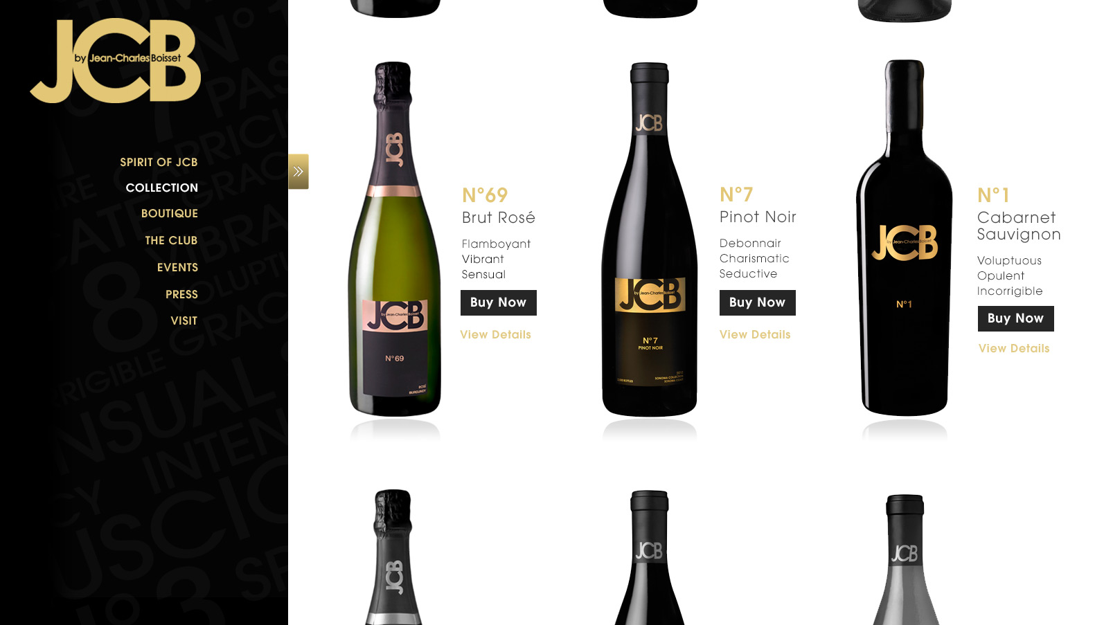 Wine List View Template: Shop wines. Integrated e-commerce experience.