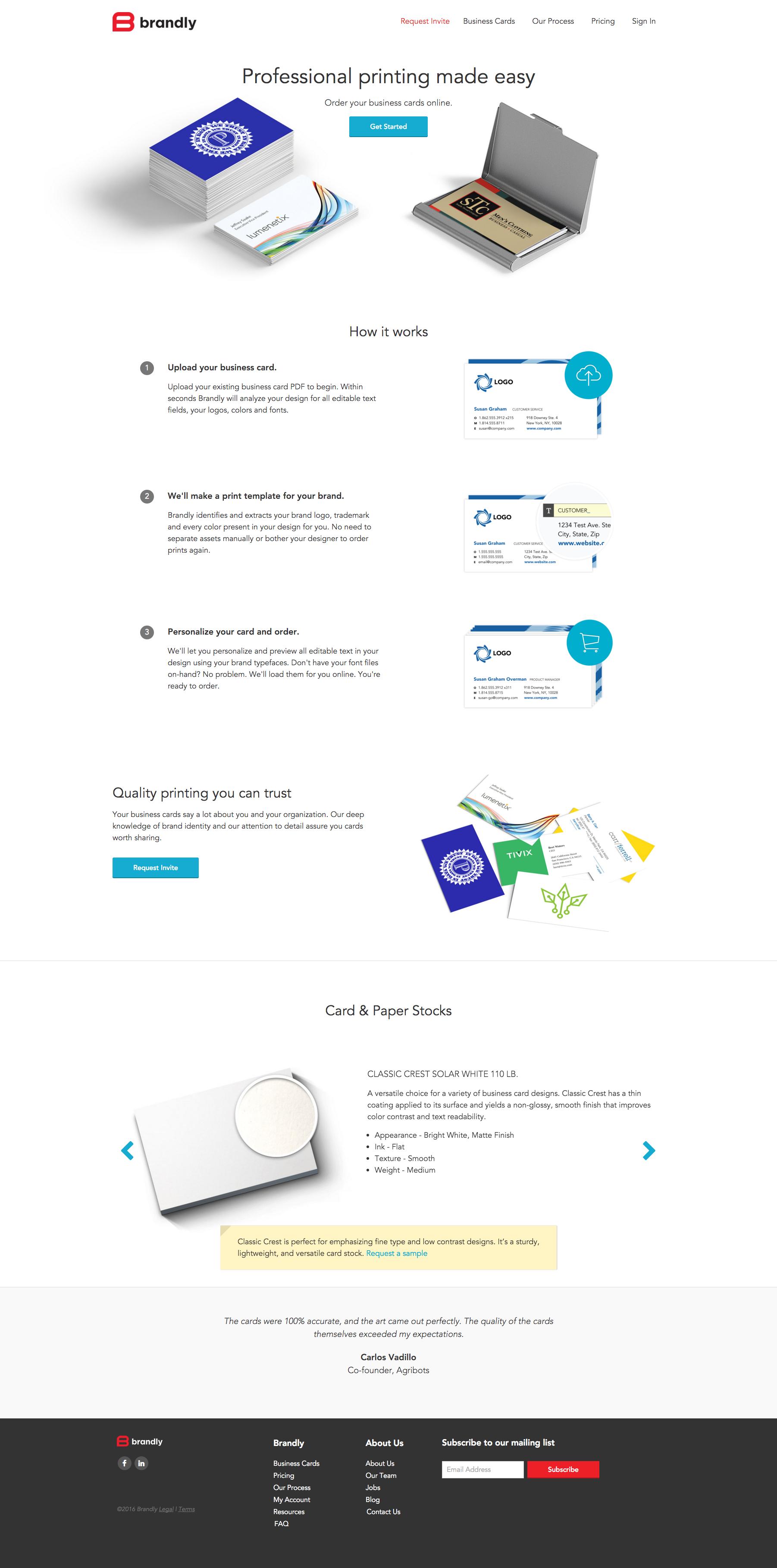 Marketing Site: Homepage