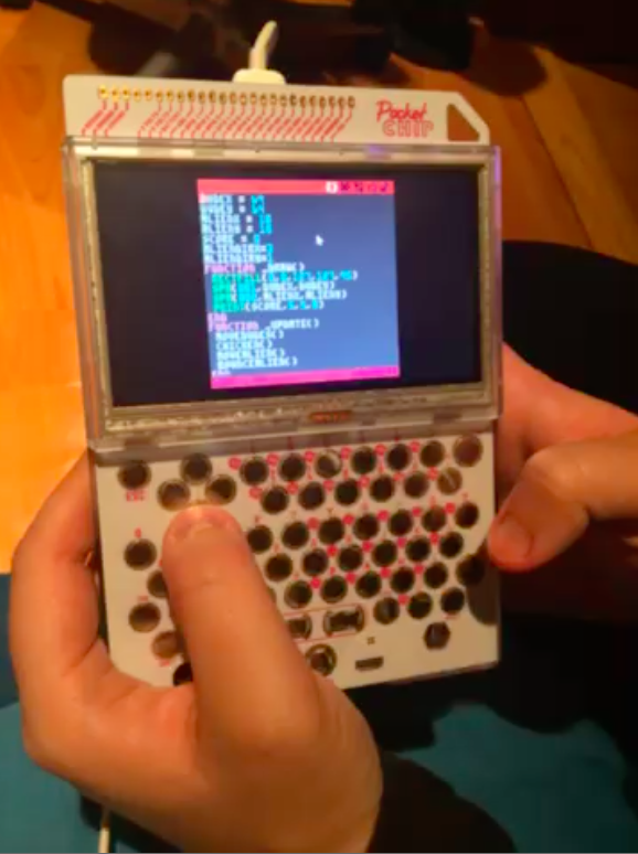 Actual Pong code and game built by a Sparkiverse student