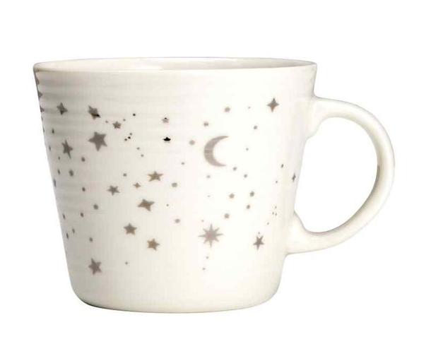 soi 55 lifestyle star picks star print white mug from H&M