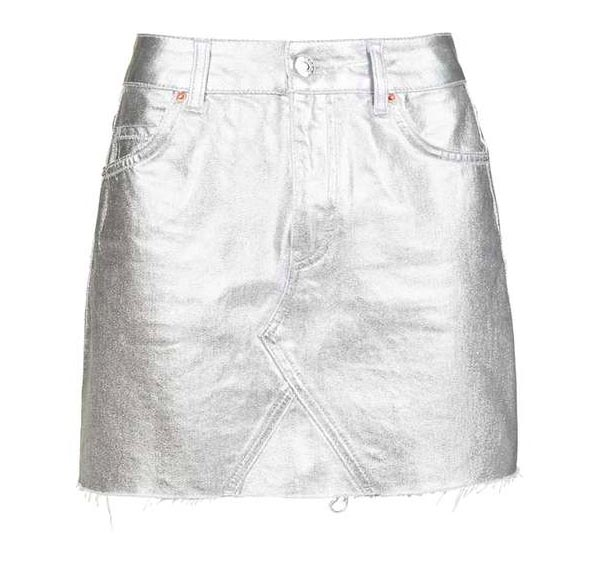 soi 55 silver fashion finds metallic silver skirt by topshop