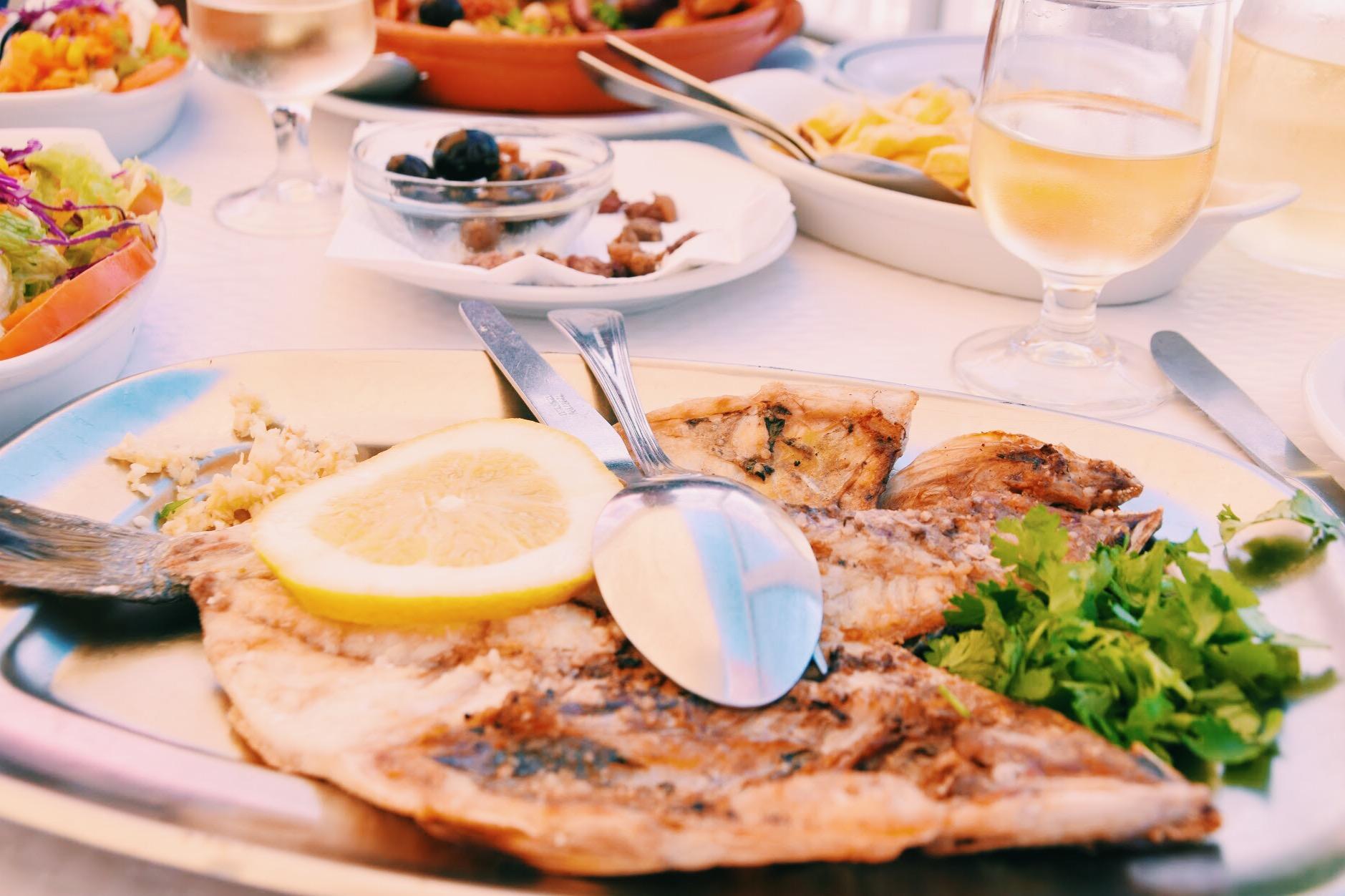 Fresh grilled 'Dourada'   Restaurant O Pescador
