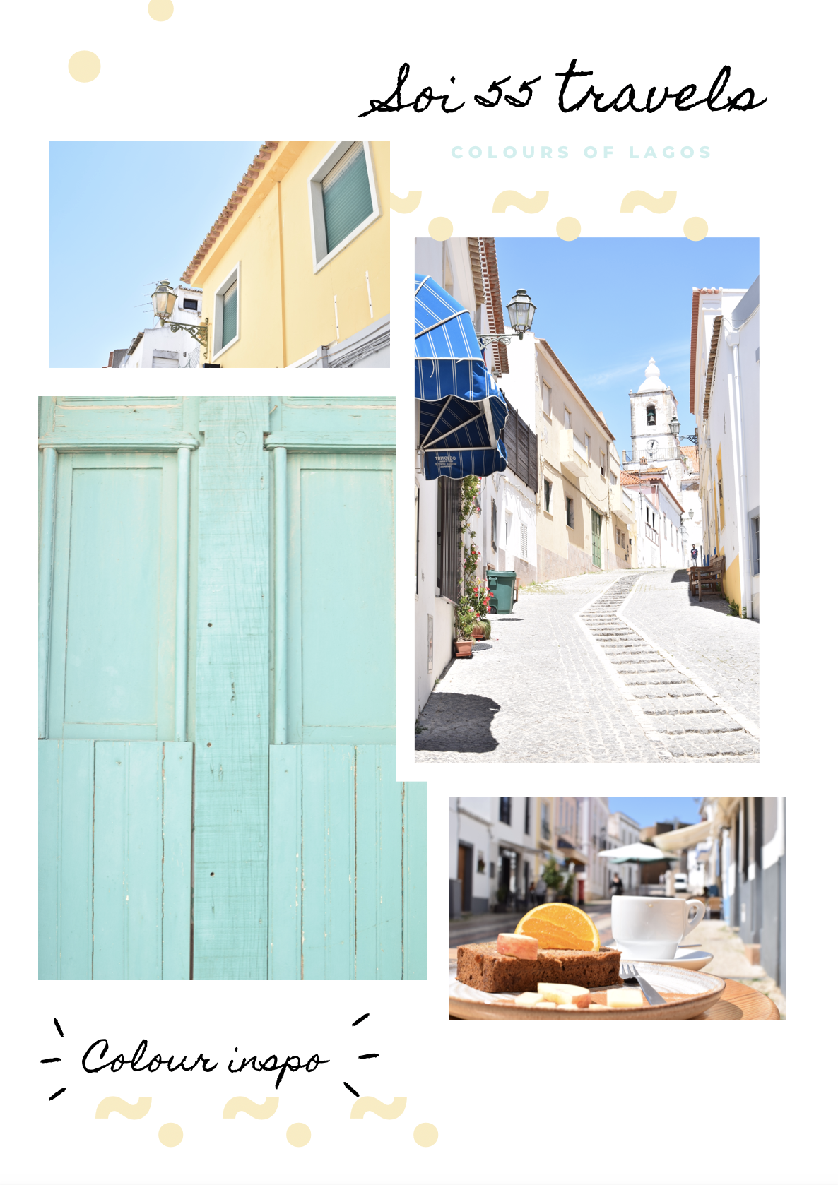 Finding colour inspiration in Lagos, Portugal