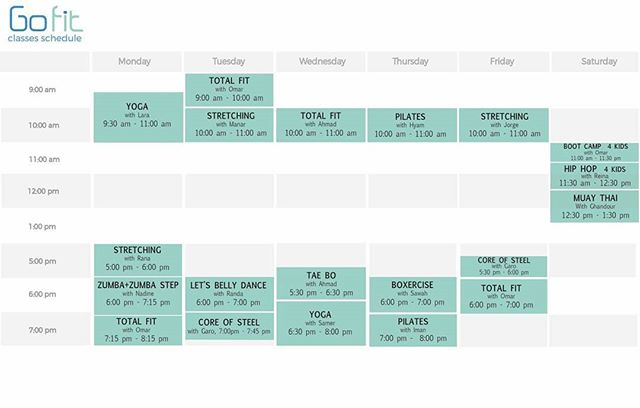 !! New classes timetable !! #groupclasses #yoga #pilates #stretching #totalfit #coreofsteel #orientaldance #zumba #zumbastep #taebo  #boxercise #muaythai #hiphopforkids #bootcampforkids #gym #hamra