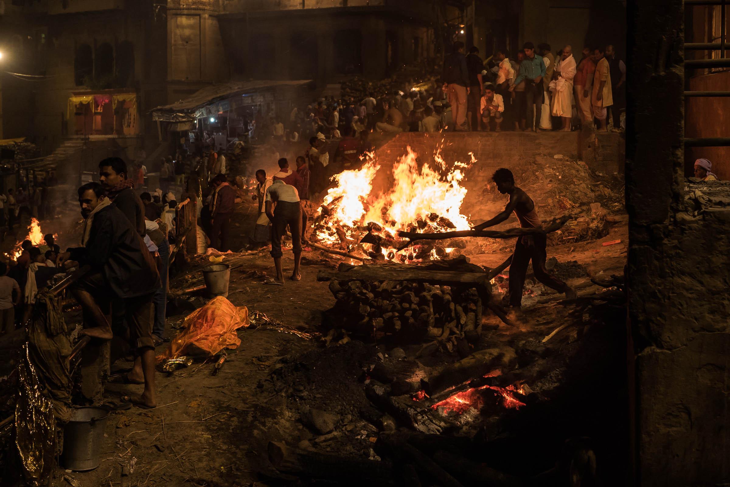 Manikarnika Burning ghat. Varanasi, India
