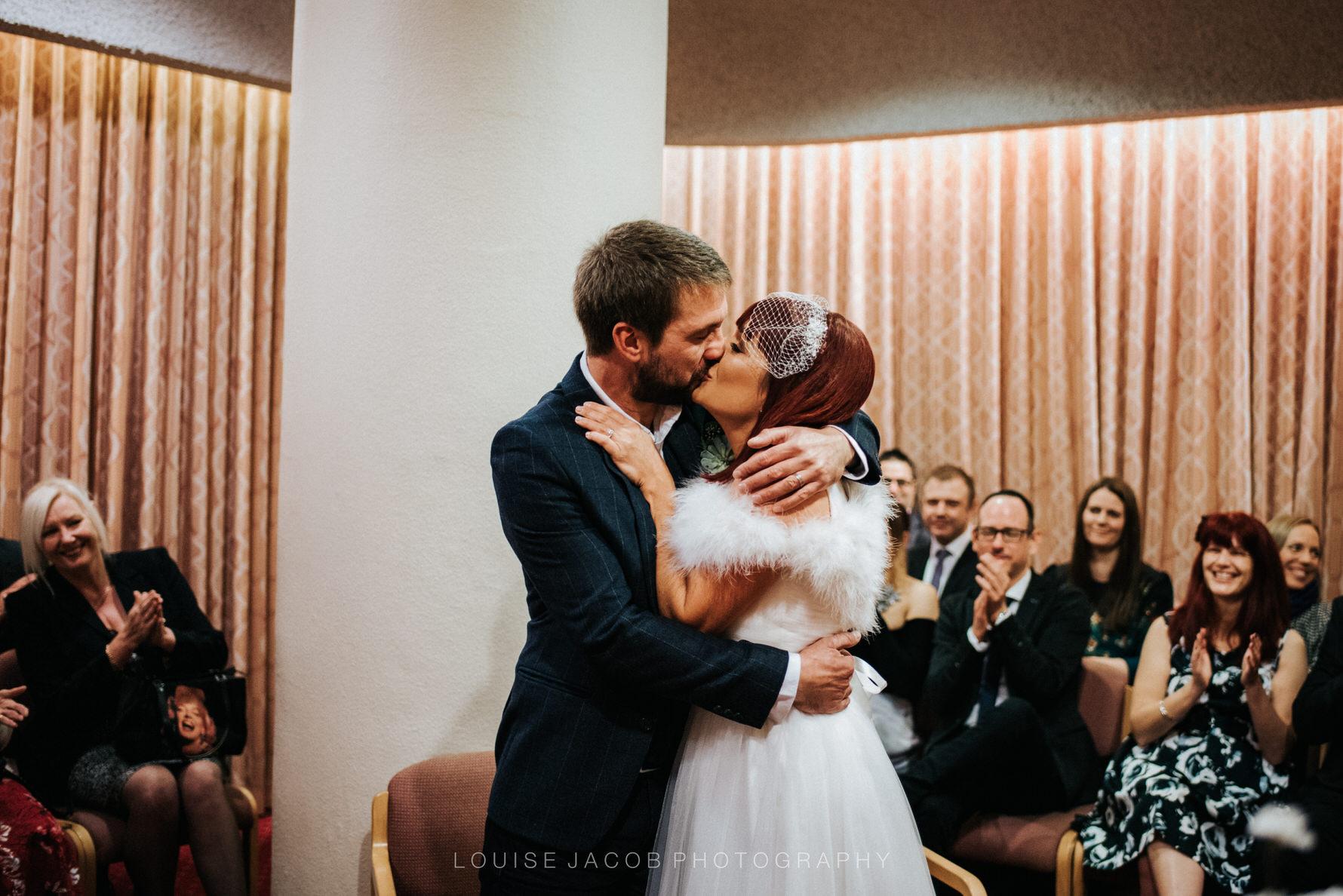 Documentary Wedding Photography first kiss