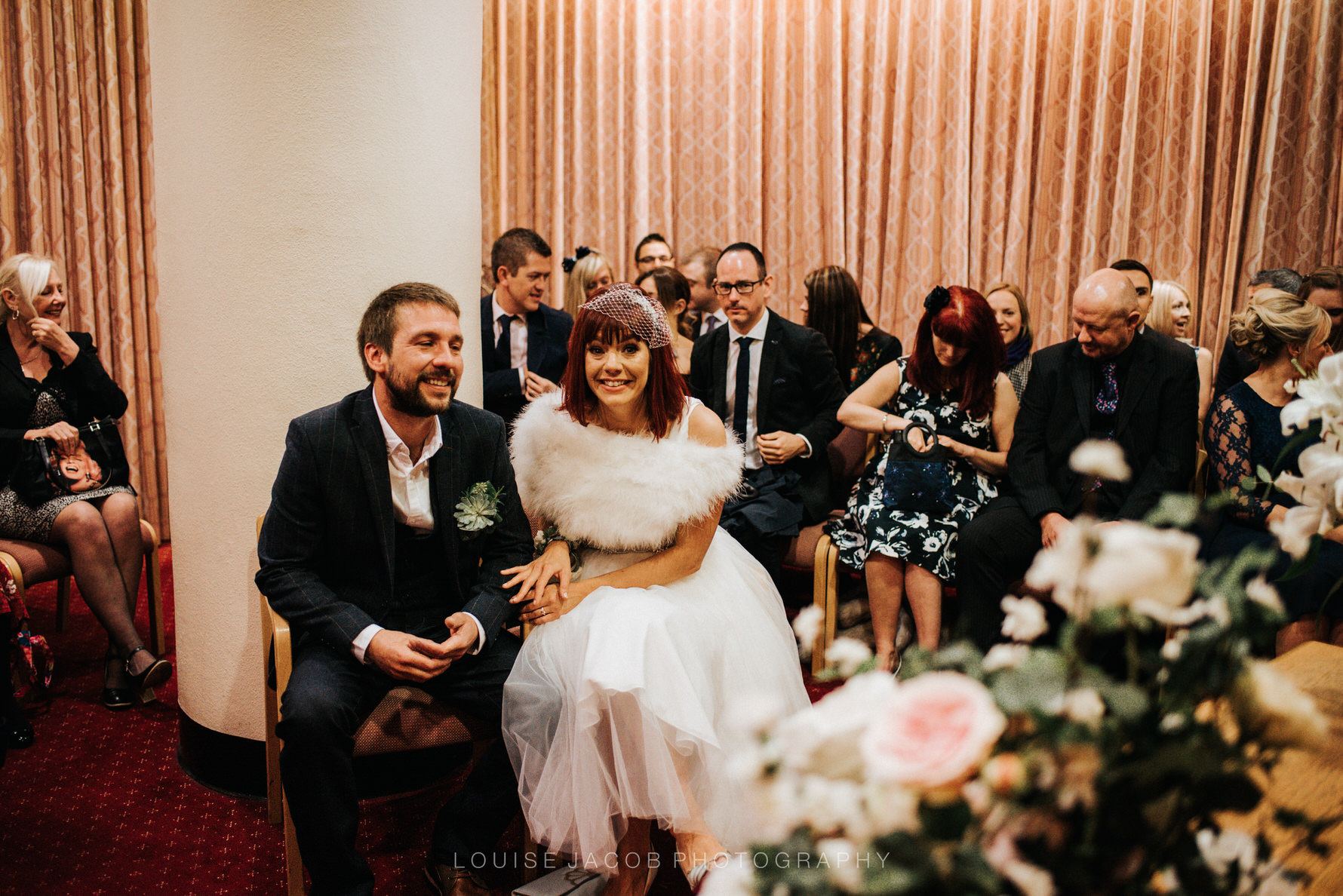 Documentary Wedding Photography bride and groom at Chester Registry Office