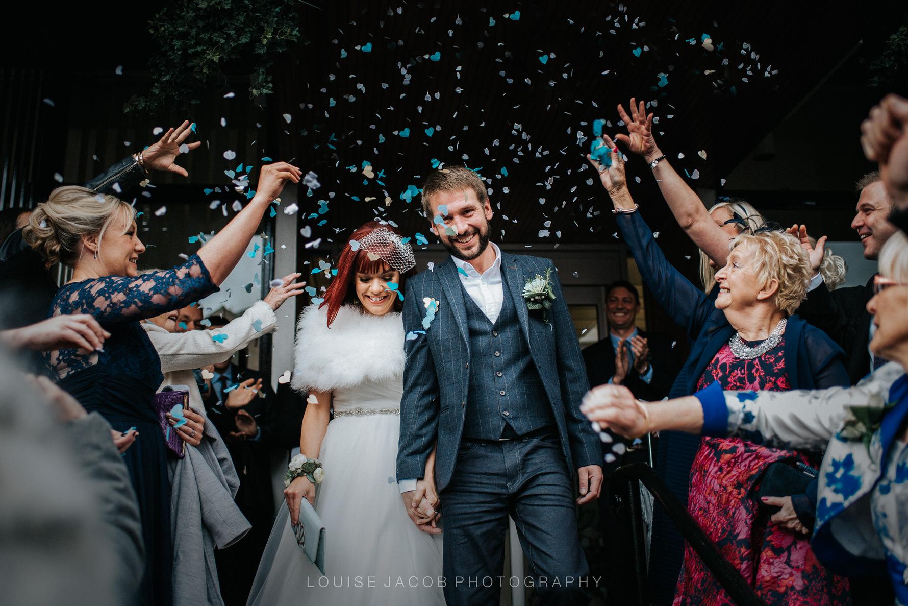 Wedding Photojournalism - the confetti shot