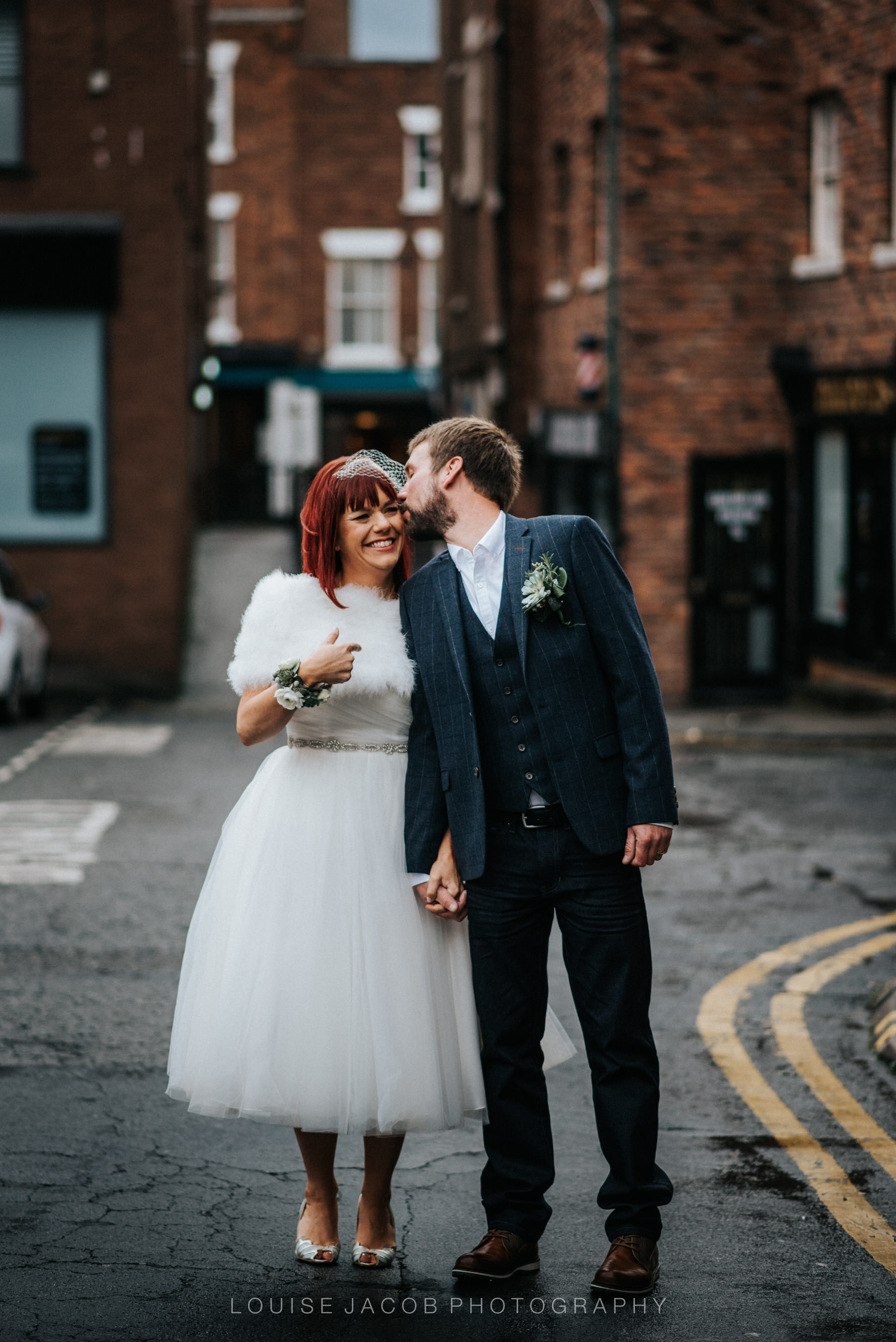 Documentary Wedding Photography bride and groom in Chester
