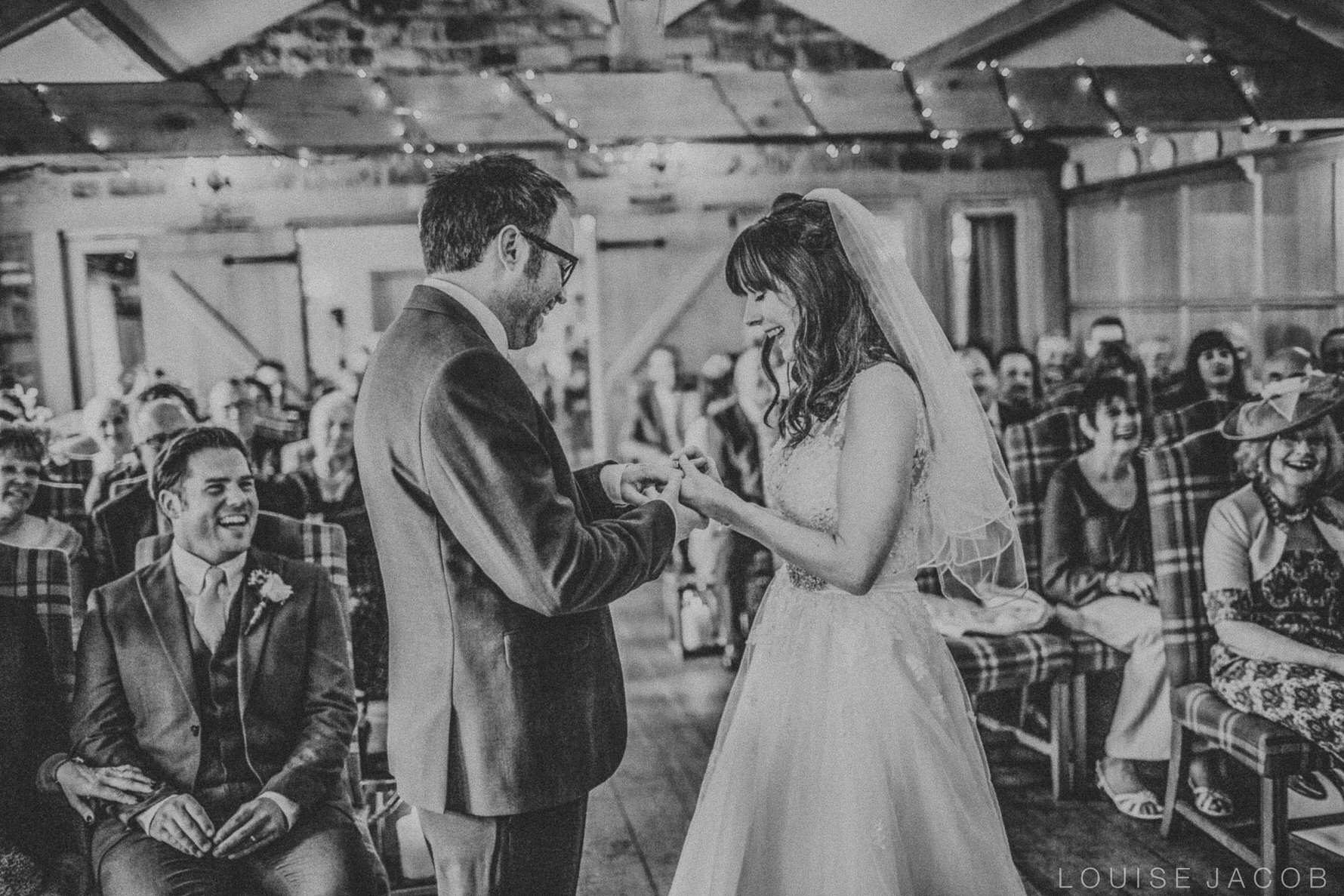 Documentary Wedding Photography bride and groom exchanging rings