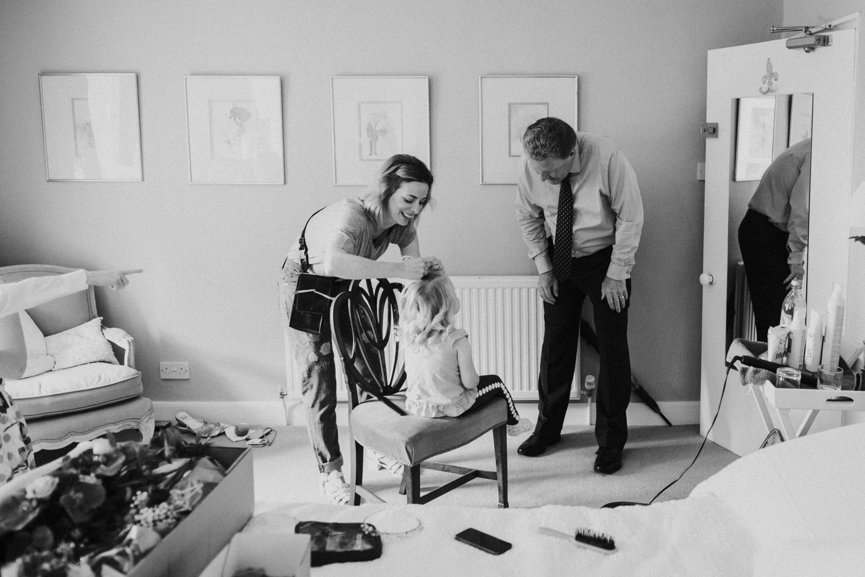 Bridal Prep by Cheshire Unposed Documentary Wedding photographer Louise Jacob