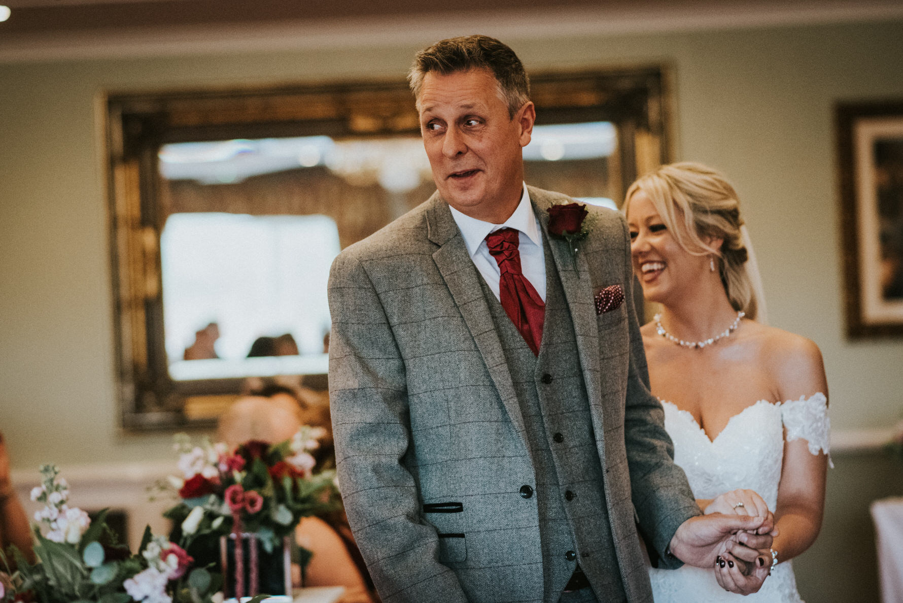 Cheshire Unposed Documentary Wedding Photography at The Stone House Hotel