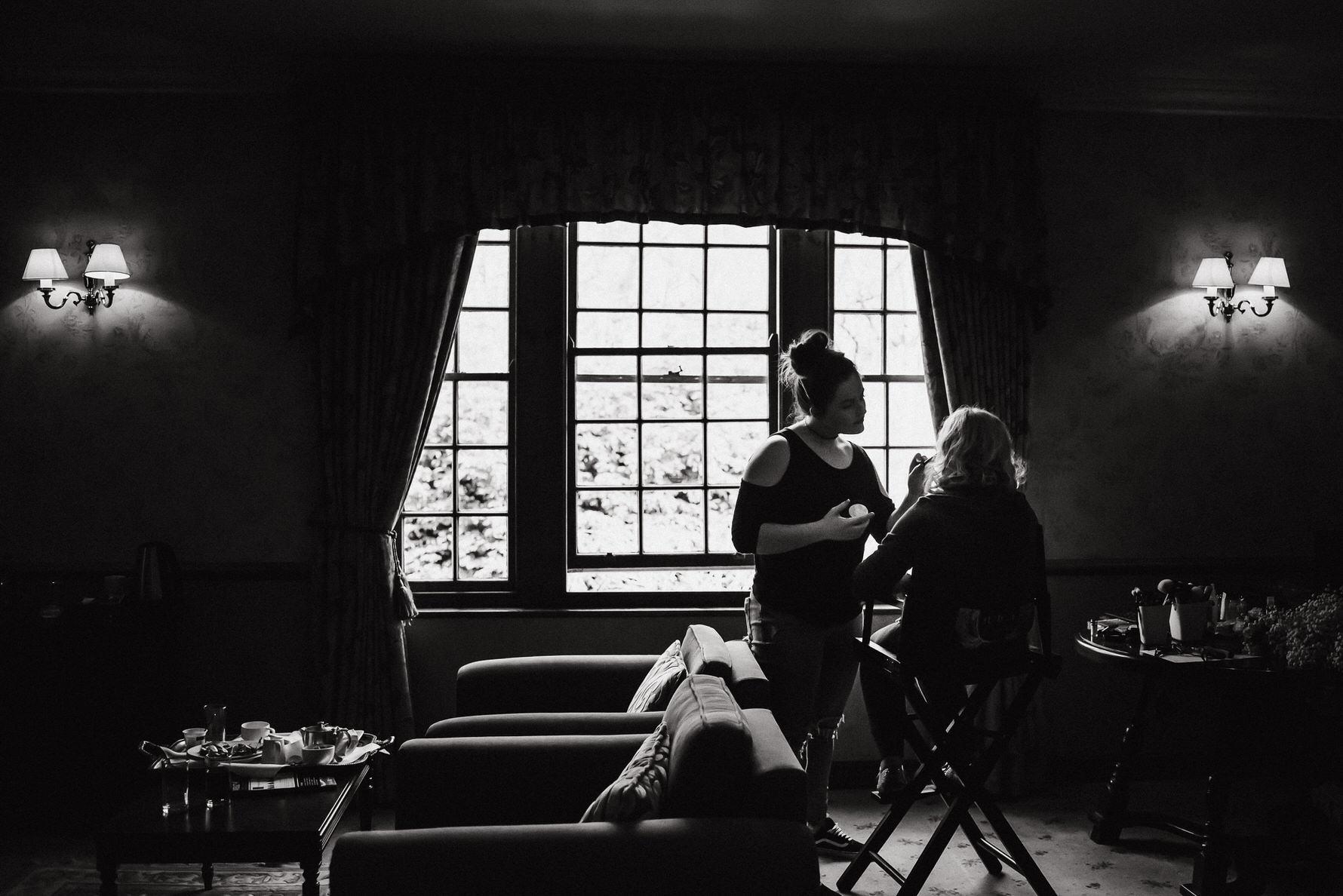Cheshire Wedding photojournalism - Bride getting ready