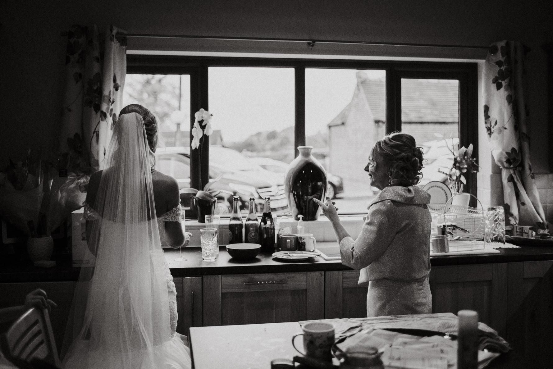 Cheshire Wedding Photojournalism - A bride and her mum