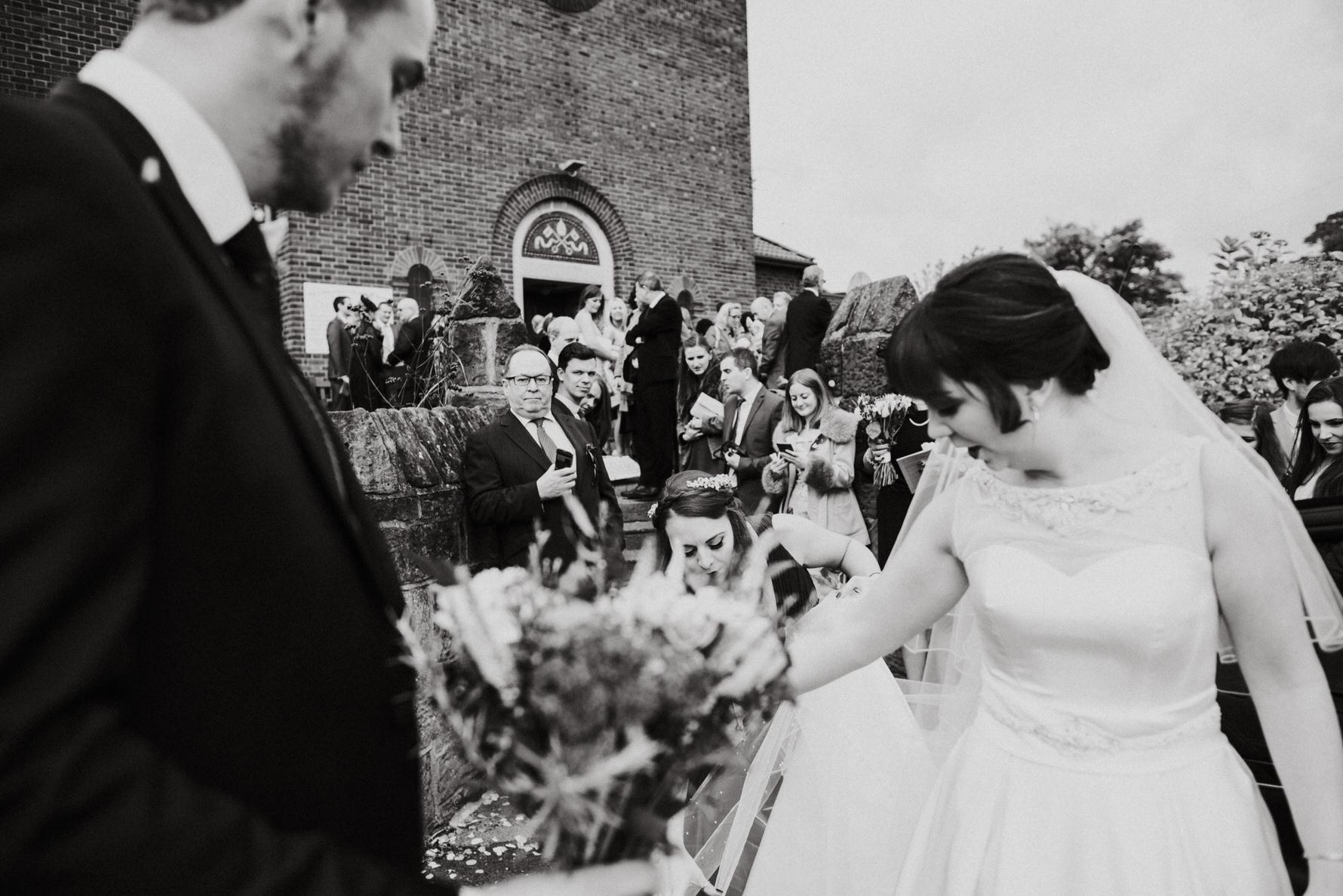 Cheshire Documentary Wedding Photography bride and groom