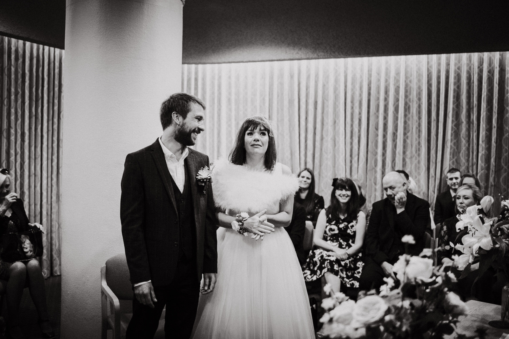 Cheshire Wedding Photojournalism - Bride and groom happy tears