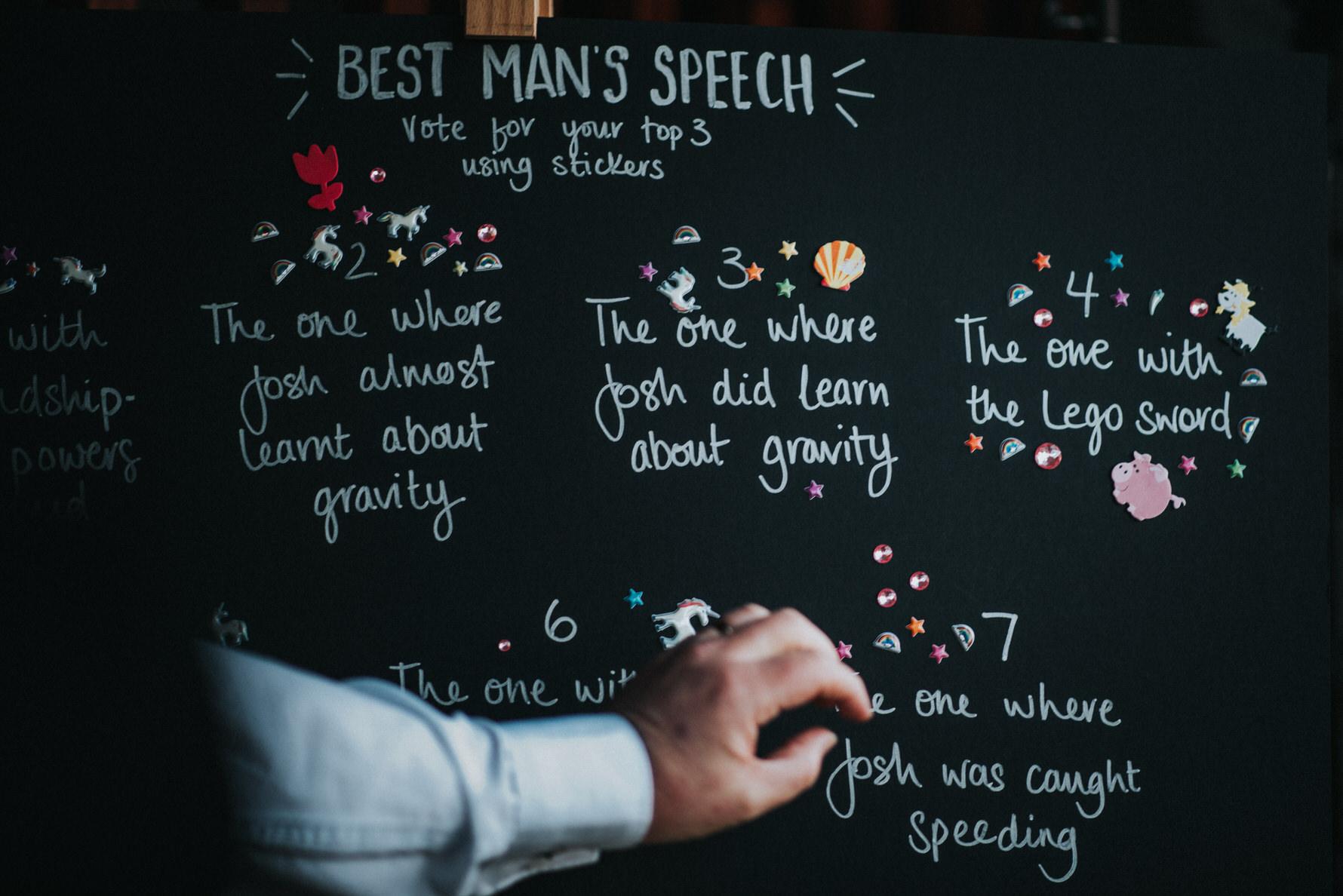 Wedding Photojournalism - Best mans speech idea