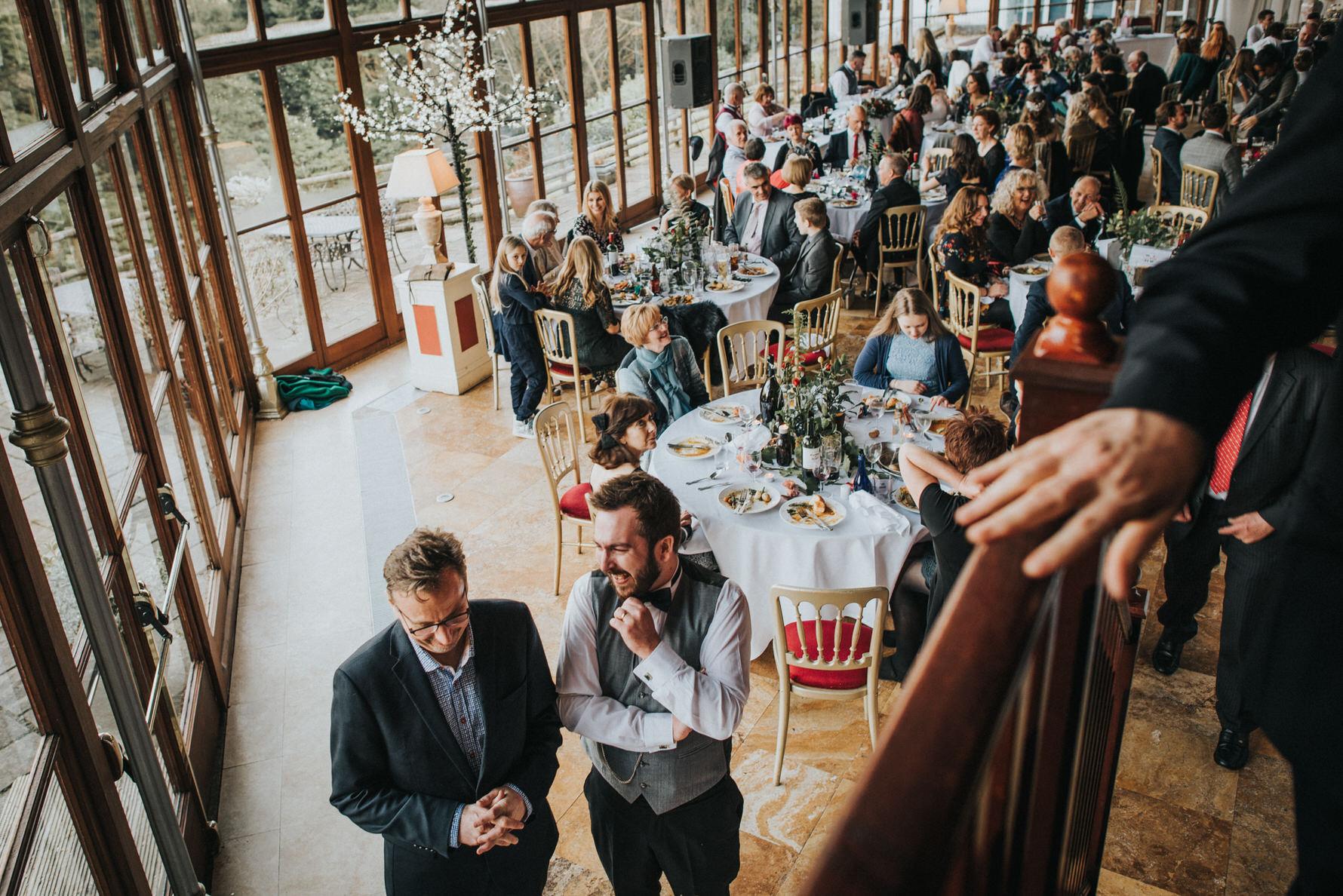 Wedding Photojournalism - A wedding reception room
