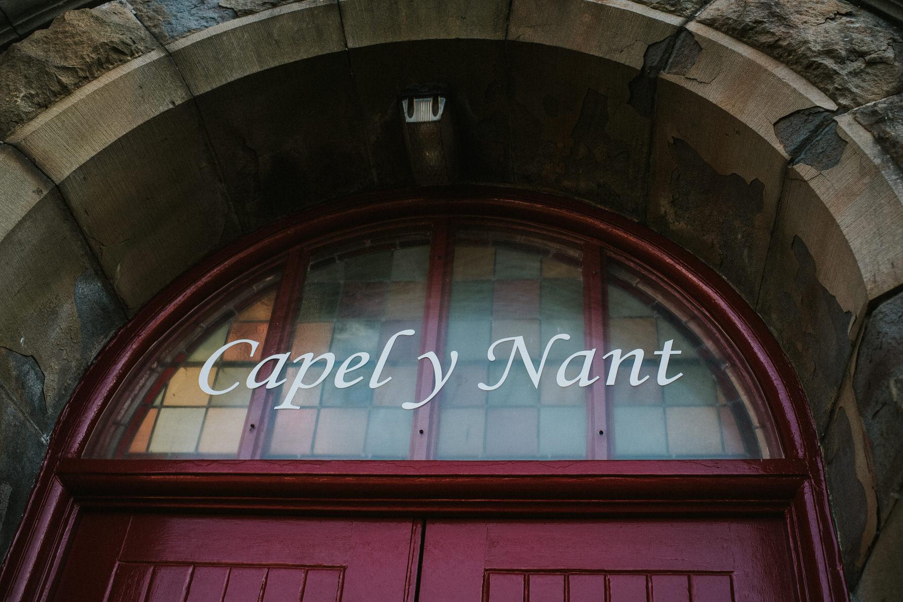 Wedding Photojournalism - Capel Y Nant red front door
