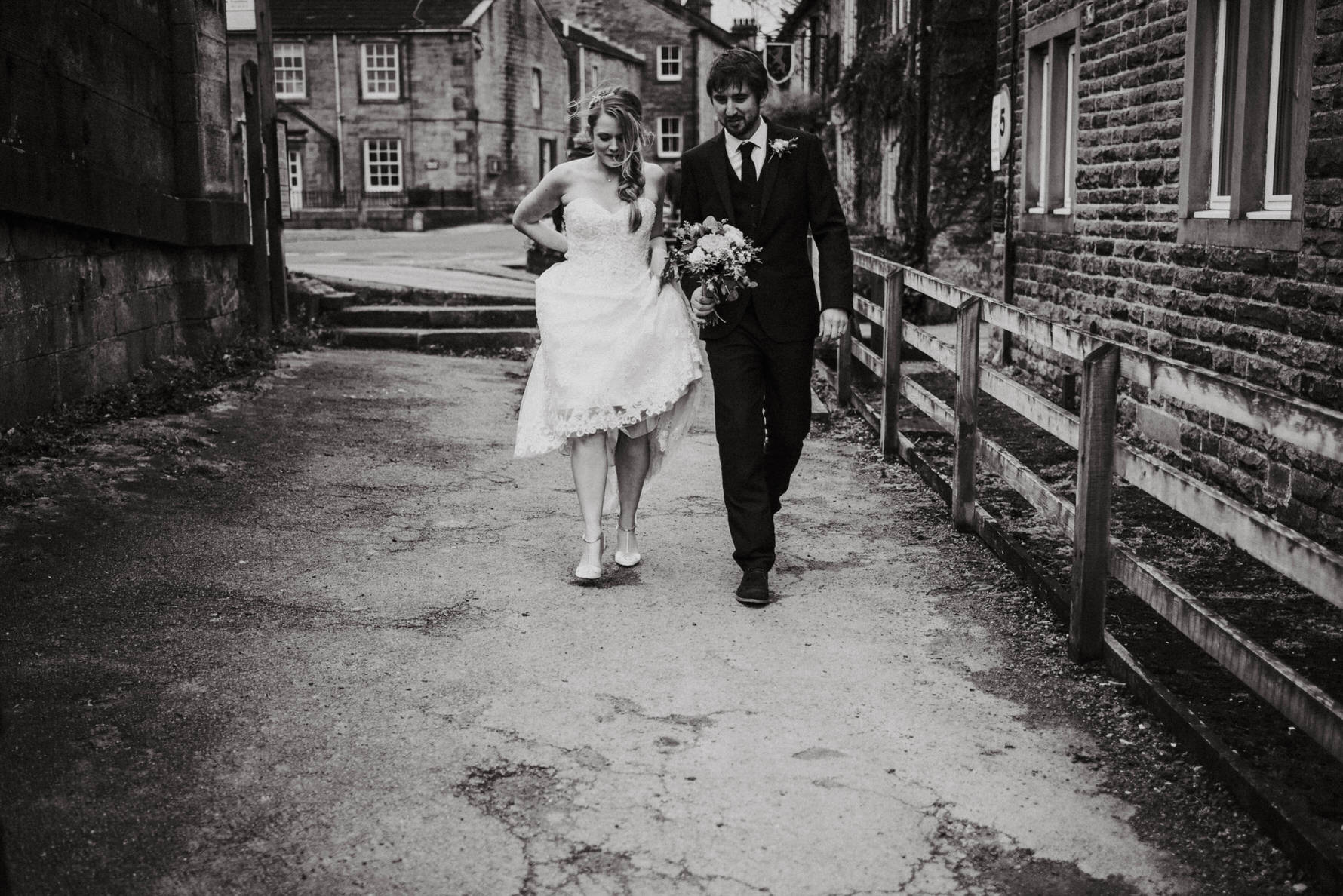 Cheshire unposed documentary wedding photographer Louise Jacob in Burnsall, Yorkshire Dales