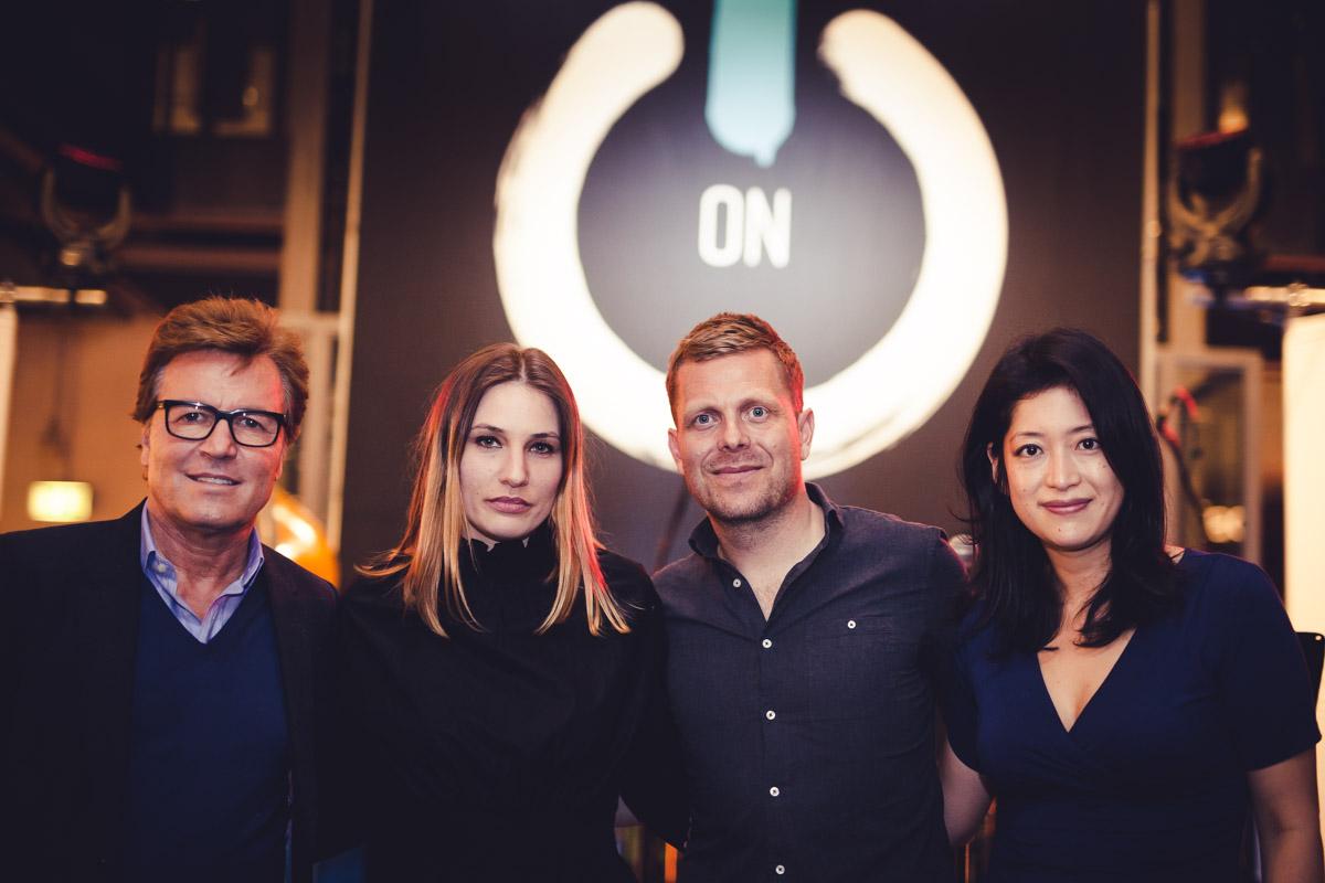 Bernd Dopp (CEO Warner Music Central Europe), Beatrix Suppra (Stilwerk), Nils Wülker, Miho Nishimoto (Warner Music)