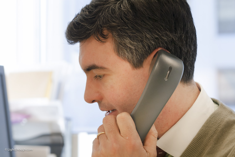 Pablo Zini on the telephone