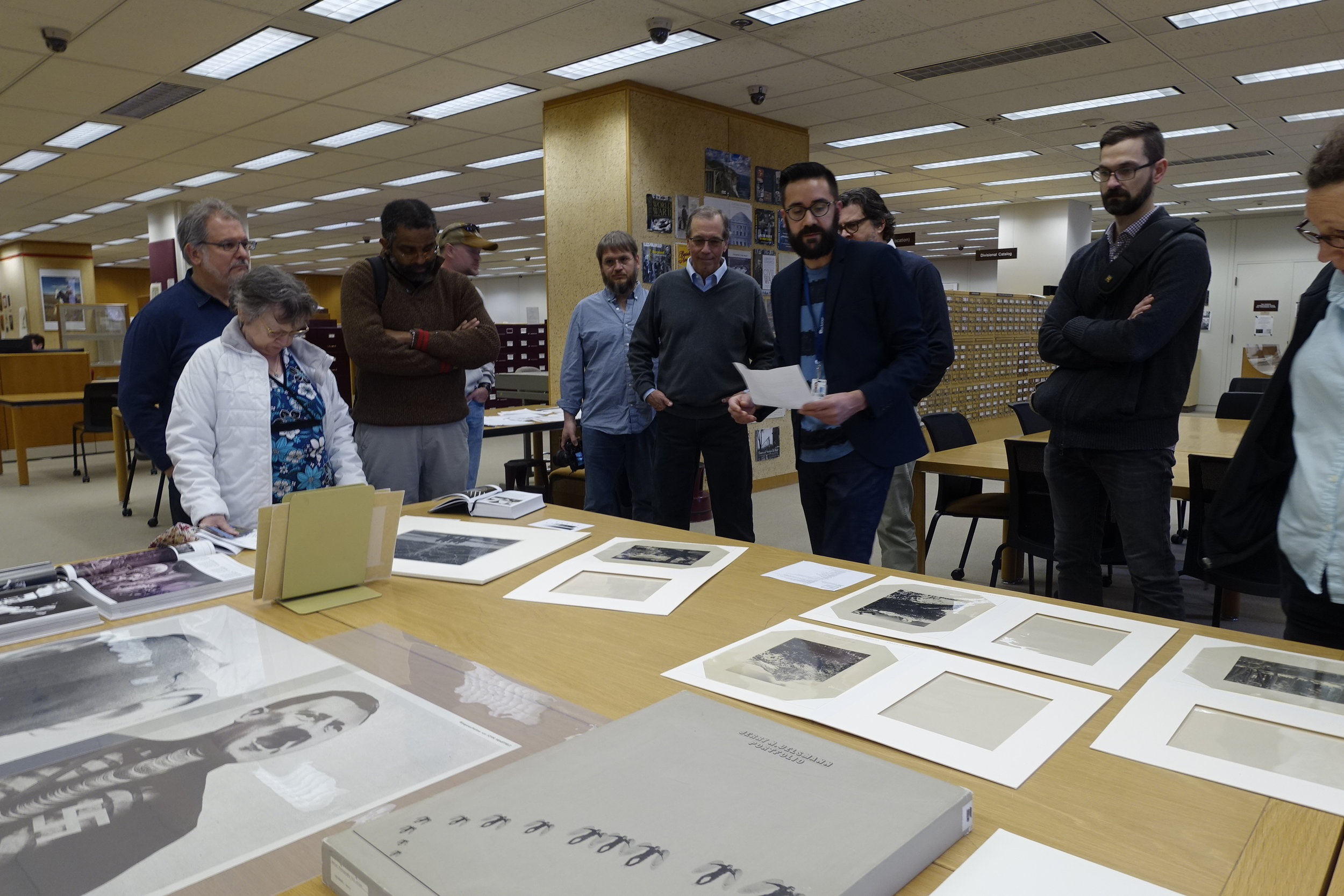 Members of the American Society of Media Photographers (ASMP), Washington DC Chapter visit the photographic reading room of the Library of Congress, Madison Building on April 7, 2017. Photos by John St Hilaire | Lightenough.com