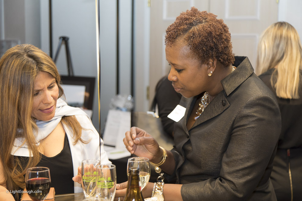 Having a lovely chat at the Bridges to Independence Black & Gold Gala May 19, 2017. Photos by John St Hilaire of LightEnough.com