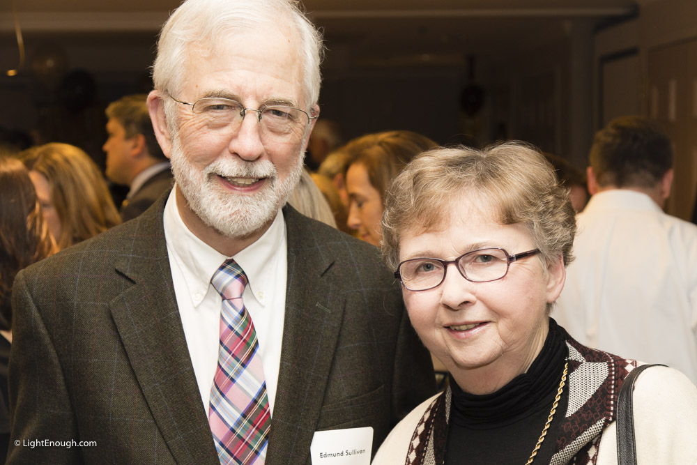 Mr & Reverend Mrs. Edmund Sullivan of St. Michaels's Episcopal Church at the Bridges to Independence Black & Gold Gala May 19, 2017. Photos by John St Hilaire of LightEnough.com