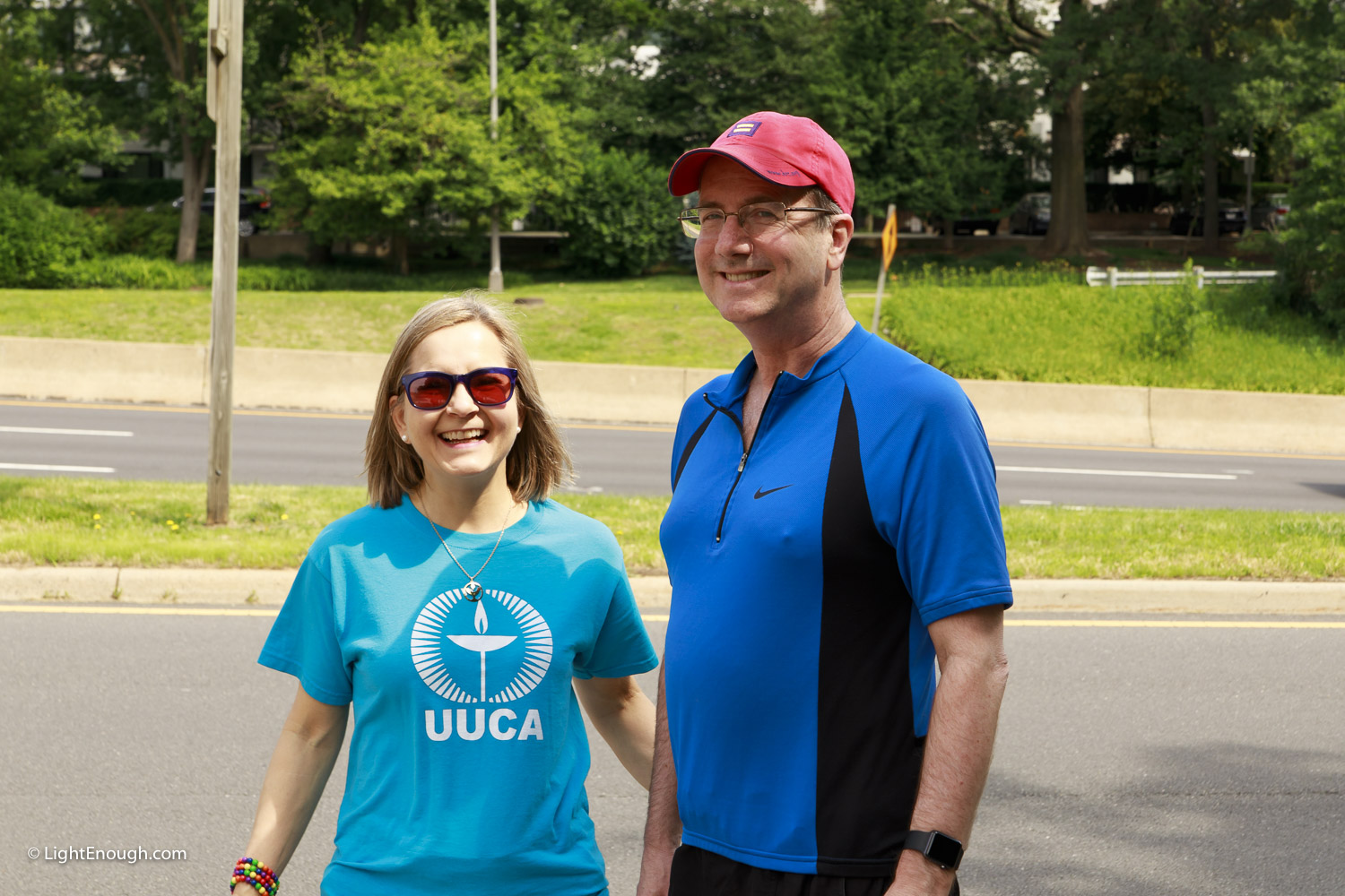 Elizabeth & Bill Fogarty at UUCA Pride Flag day on Saturday June 3, 2017. Photo by John St Hilaire/LightEnough.com.
