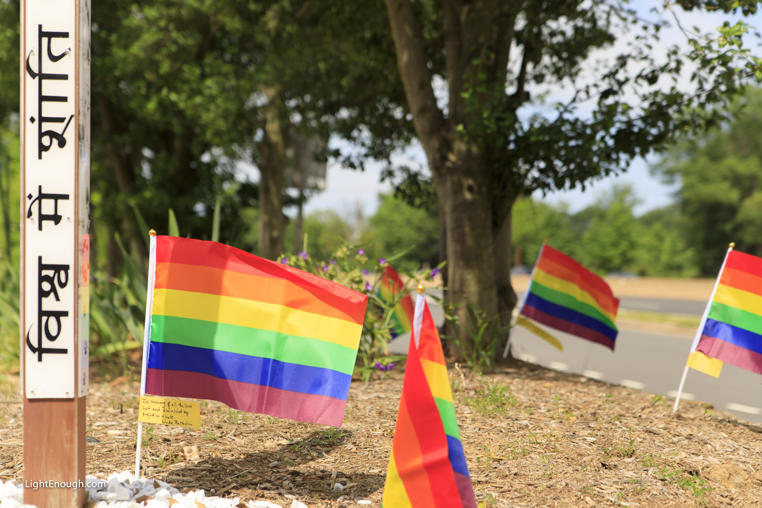 Pride flags at Pride Flag day on Saturday June 3, 2017. Photo by John St Hilaire/LightEnough.com.