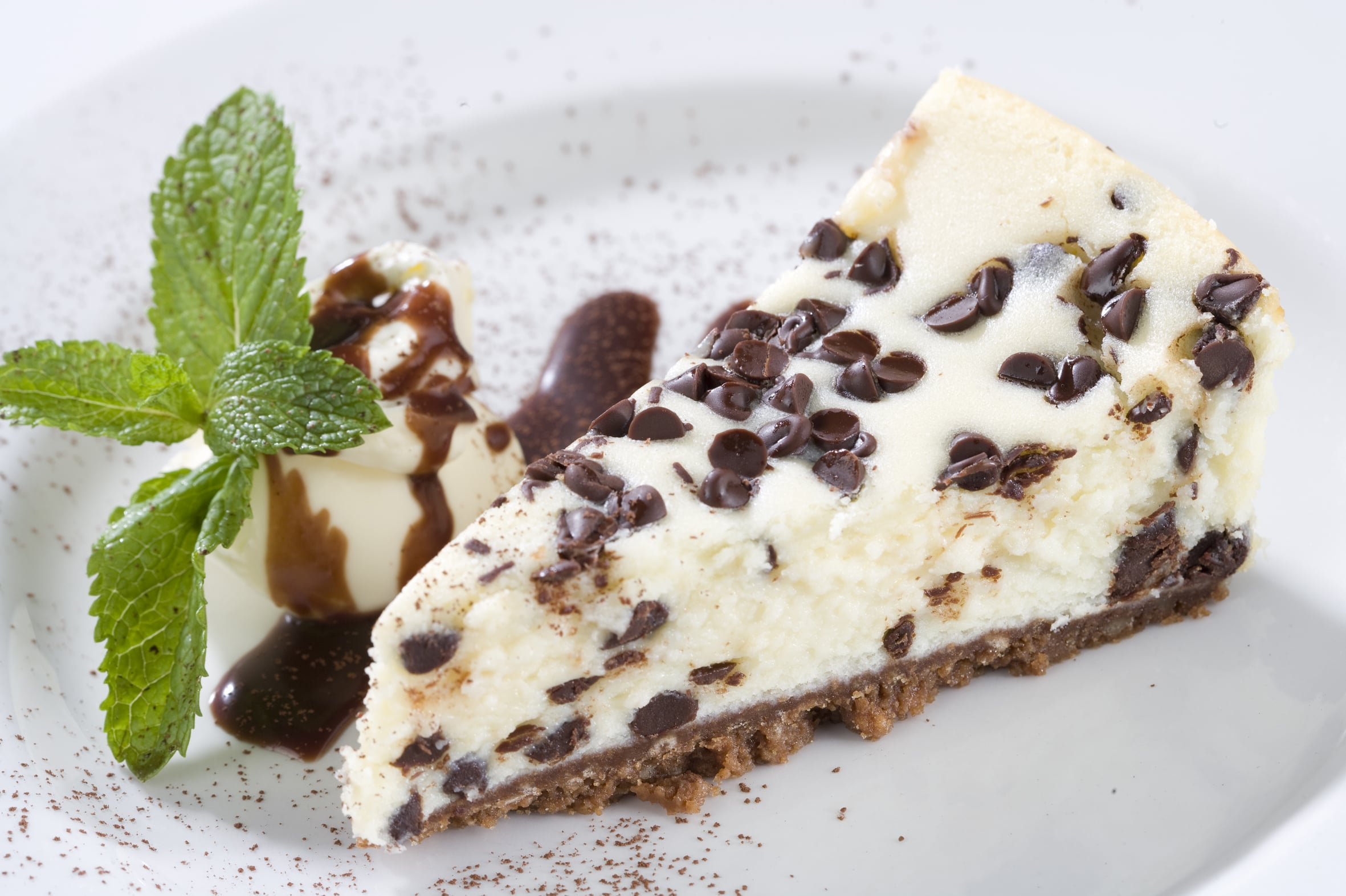 The Skinny Chef Desserts - Chocolate Chip Cheesecake