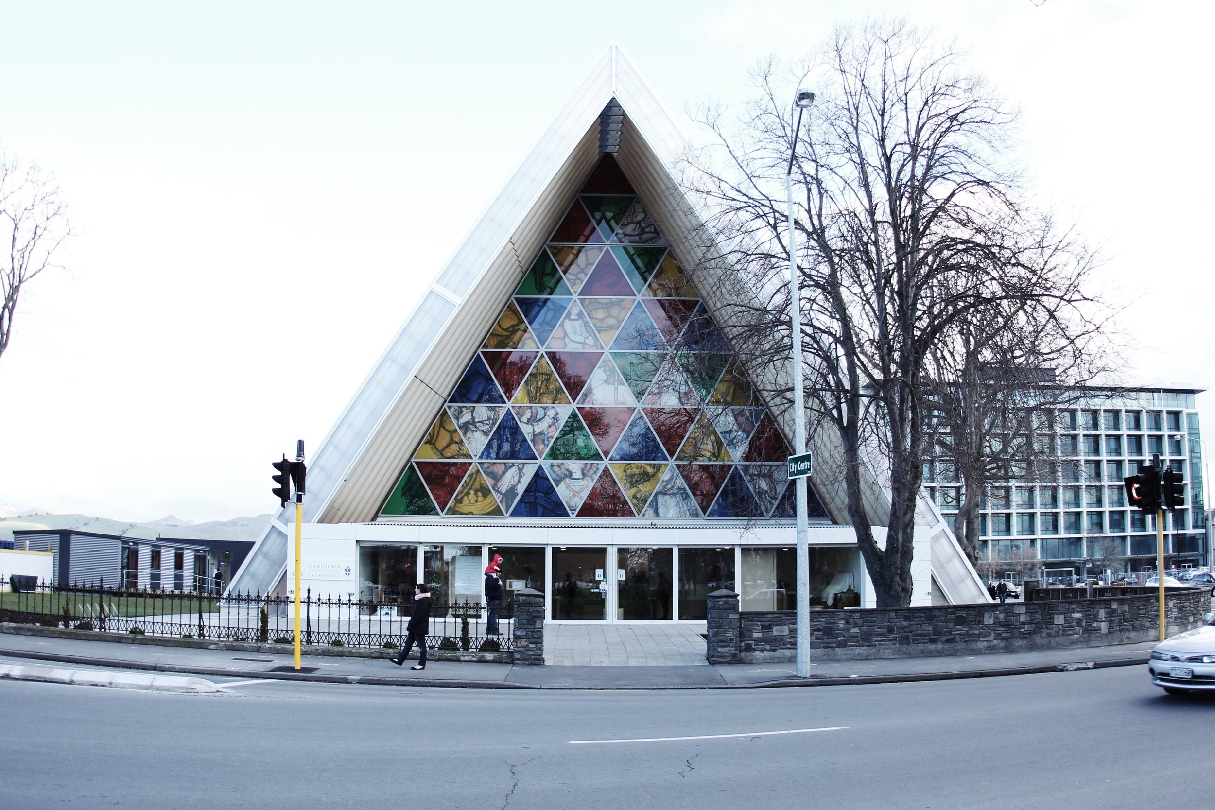 Cardboard cathedral. Christchurch.