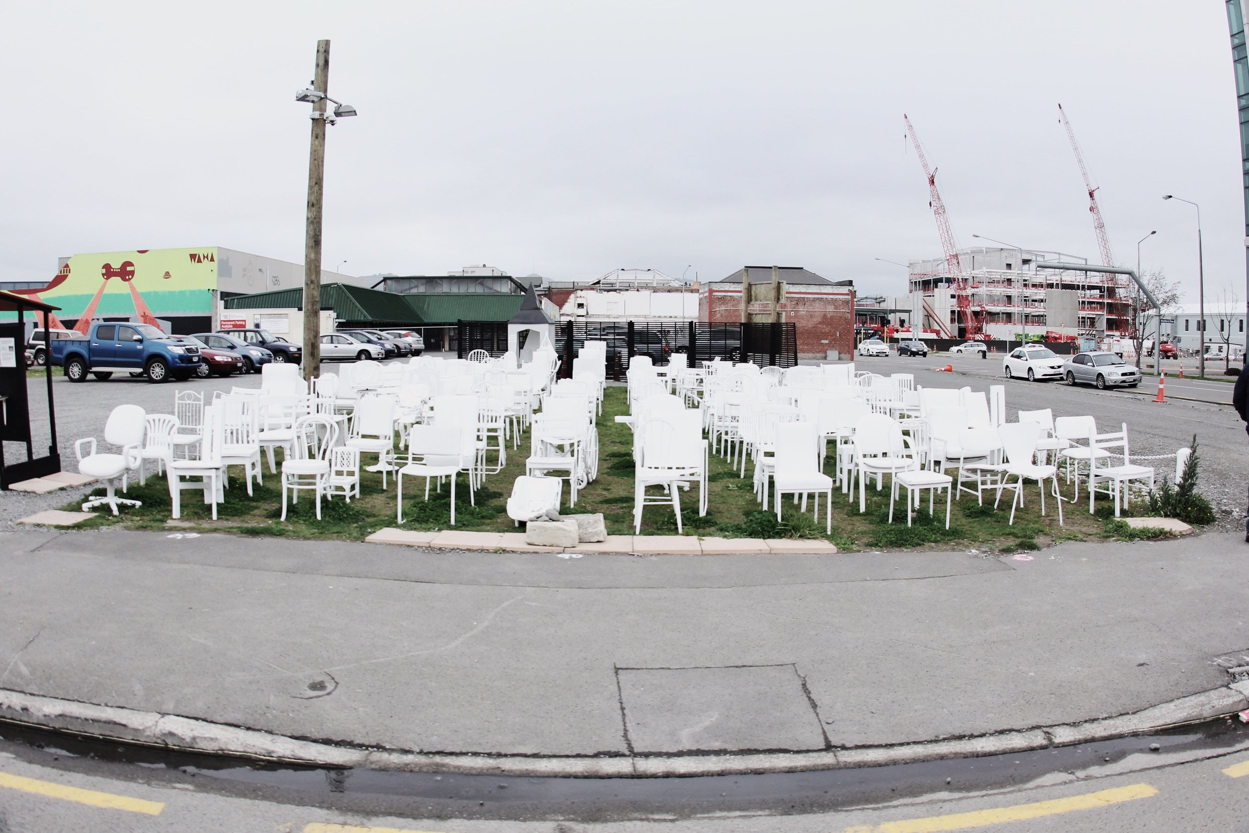An art instalment, paying tribute to the lives lost in Christchurch' most recent earthquake. ❤️