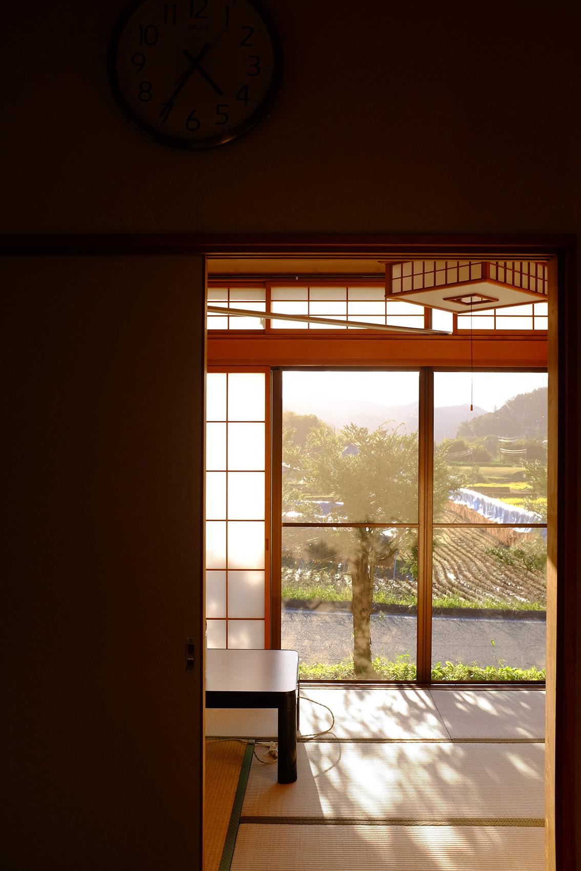 Sunset in Tatami room