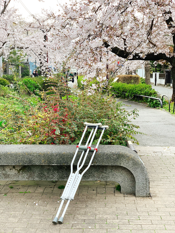 Crutches Hanami