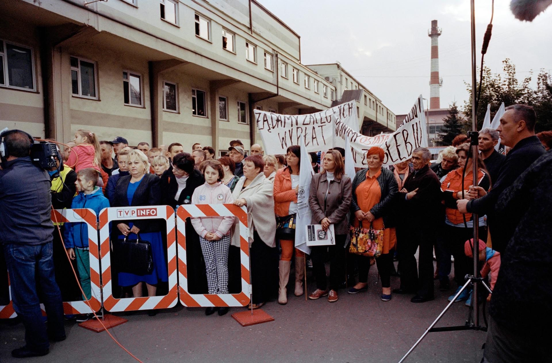 Grève de mineurs à la mine de Węgla Kamiennego Kazimierz Juliusz, Sosnowiec. 2015