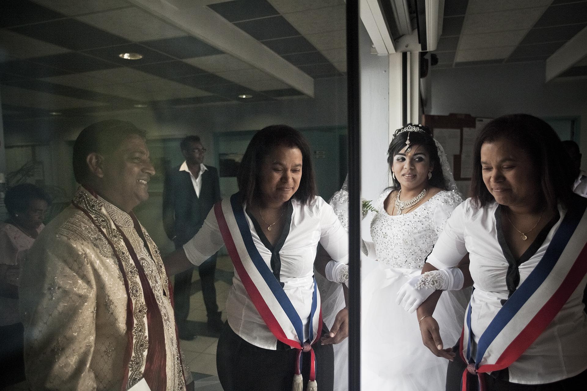 Mairie de la Saline. Lendemain du mariage traditionnel à la mairie de la Saline où les deux mariés ont souhaité se dire oui devant la République française.