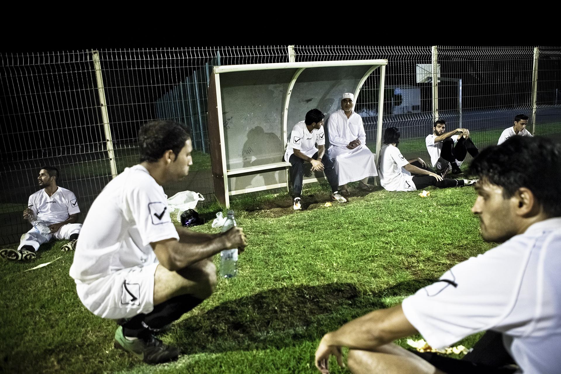 Saint-Pierre, Ile de la Réunion. Novembre 2012.L'équipe de football musulmane de la ville Saint-Pierre lors d'un match officiel sur l'île.