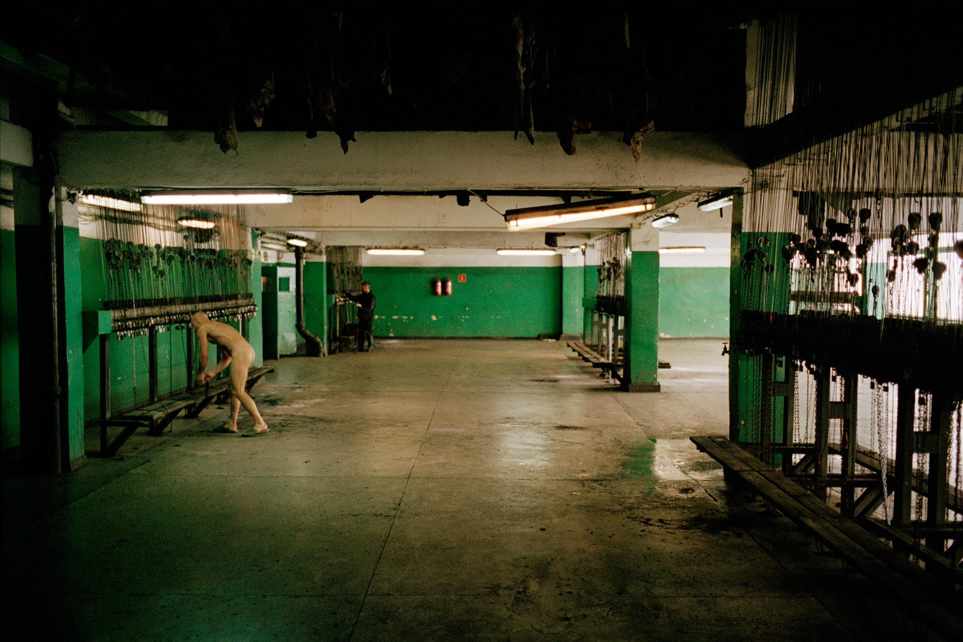 Salle des pendus. Mine de charbon de Giszowiec, site en activité. Pologne, 2013
