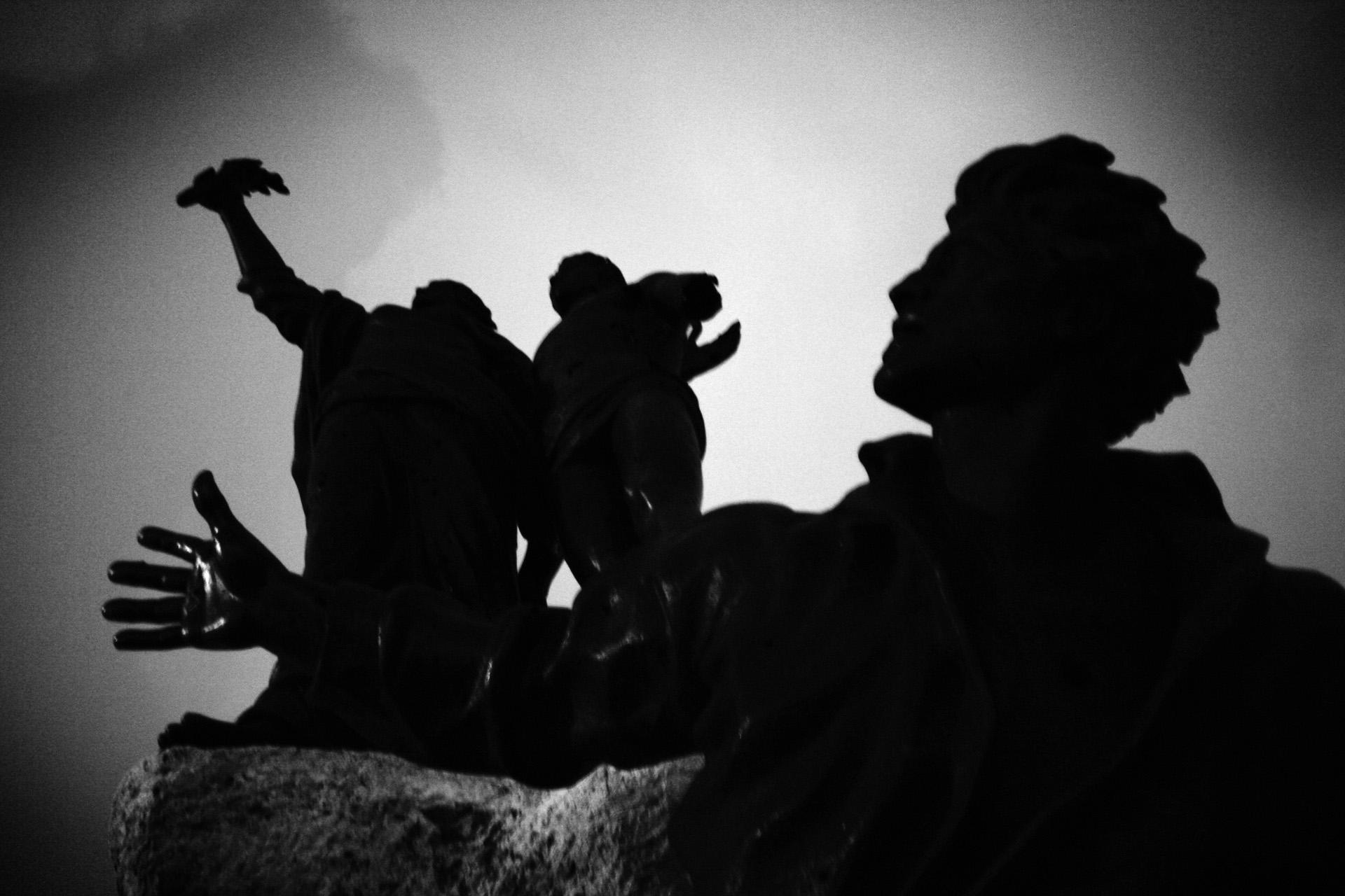 Statue place des MartyrsBeyrouth, décembre 2005