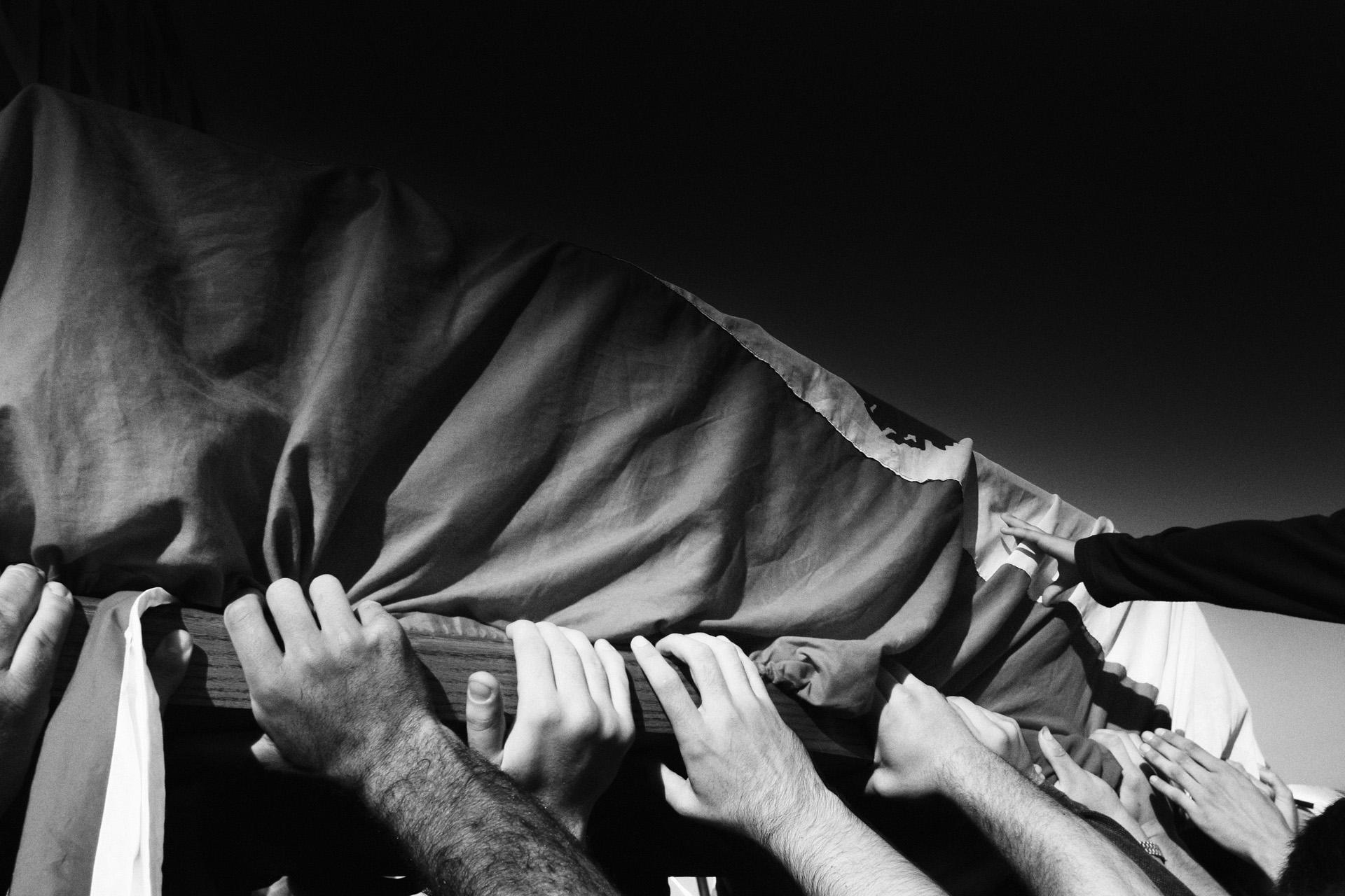 Enterrement de Gebran Tuéni, journaliste tué dans un attentat Beyrouth, décembre 2005