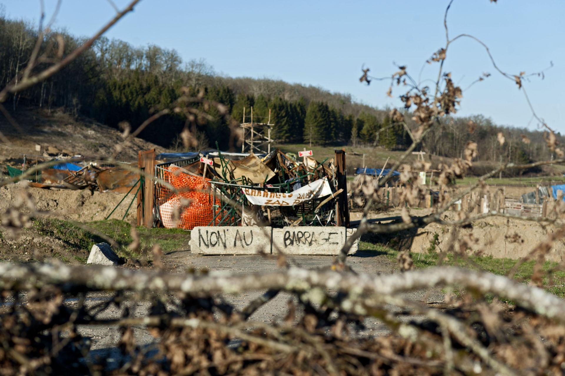 Zone à Défendre de Sivens, commune de Lisle sur Tarn (81).
