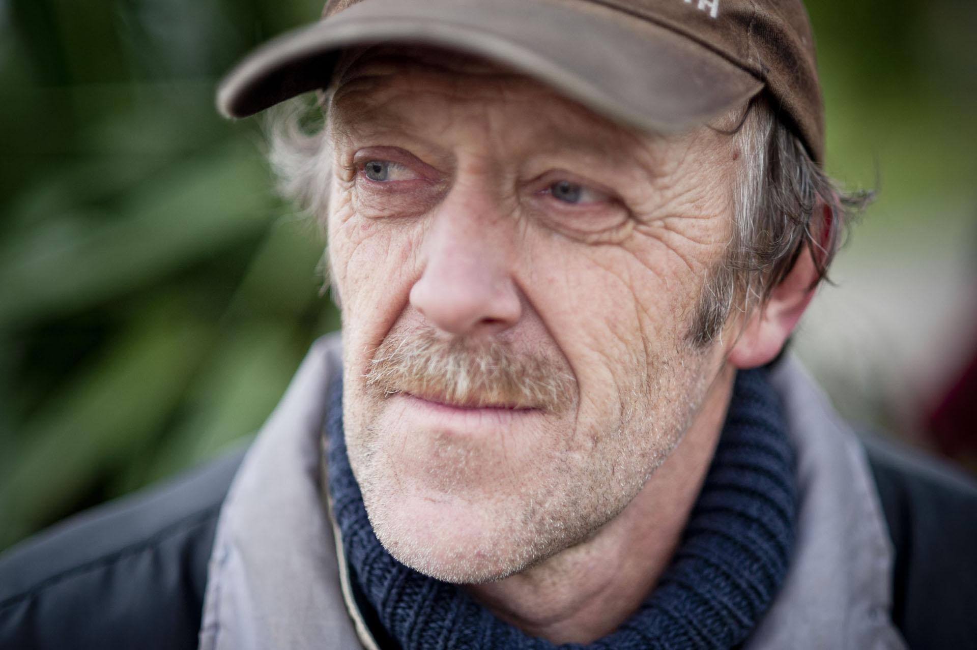 Joel Bizeul dont les terres exploitées sont concernées par l'arrêté d'expulsion du 25 janvier 2016. ZAD DE NOTRE DAME DES LANDES, Lieu dit LES DOMAINES Mercredi 27 janvier 2016.