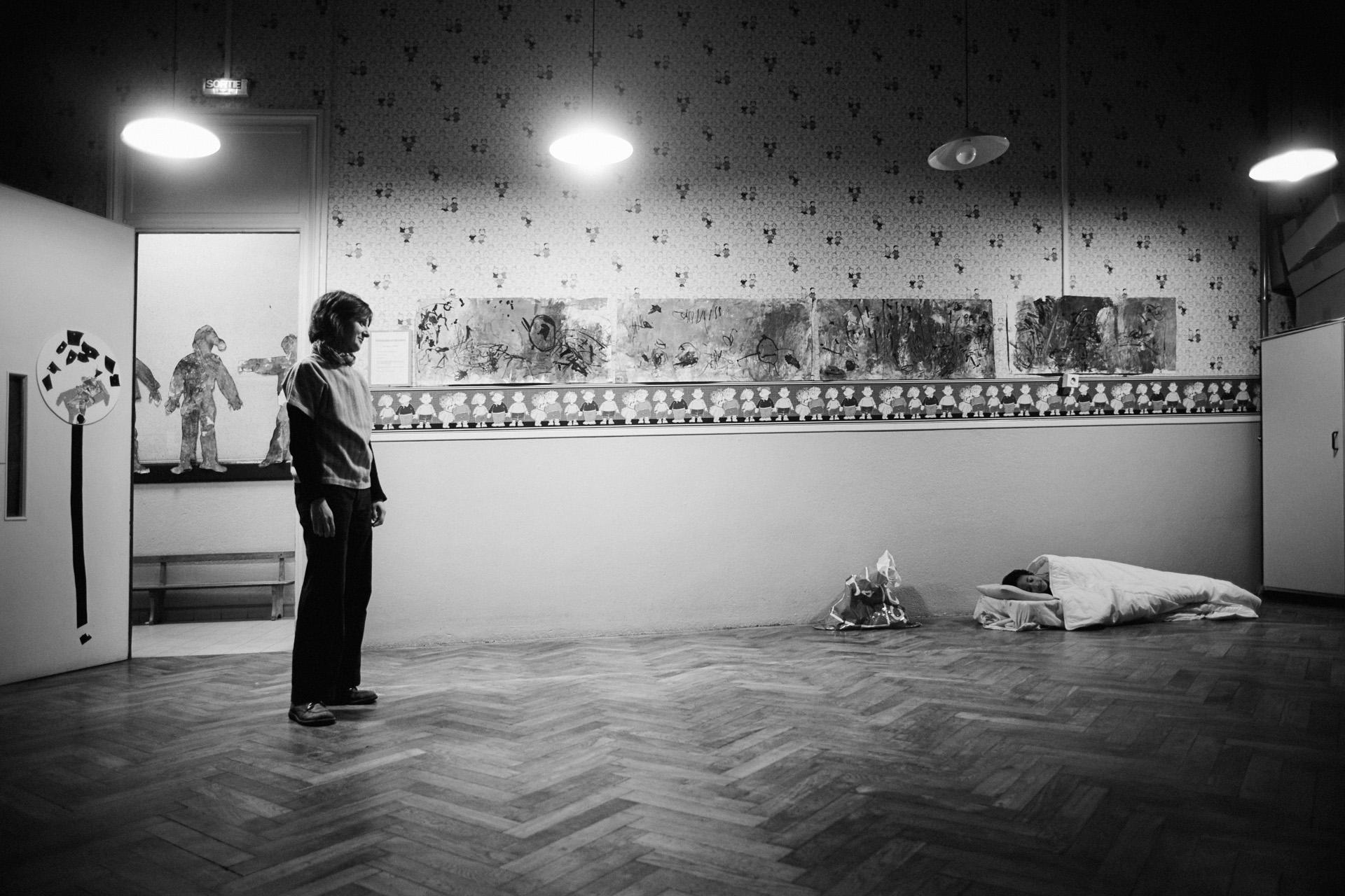 Lyon, le 31 mars 2010. Durant dix jours, l'école Gilbert-Dru sera occupée par les parents d'élèves qui soutiennent Guilherme. Le recours à l'occupation de locaux fait partie des actions médiatiques qui permettent la sensibilisation de l'opinion publique.
