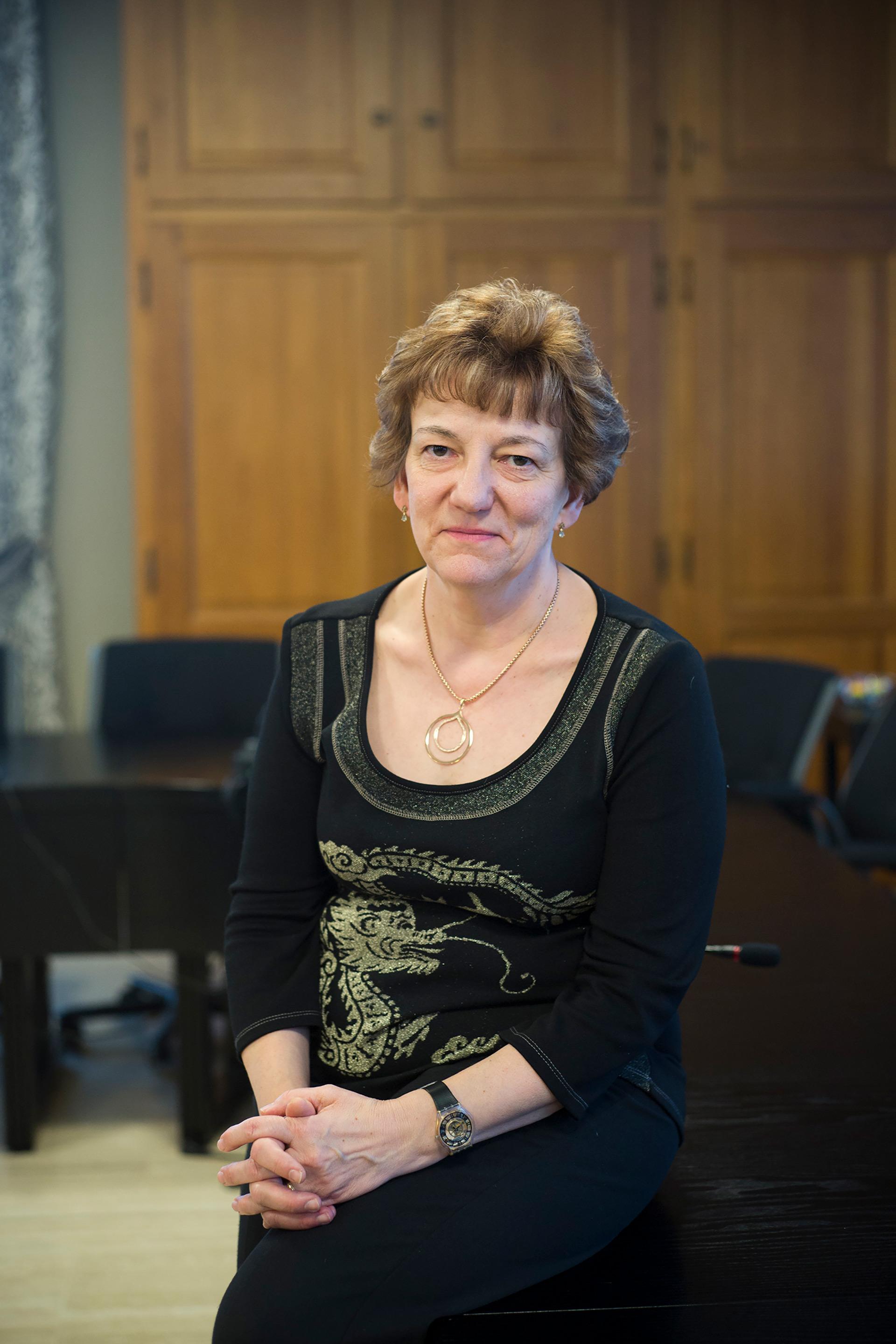 Lucie Kocevar, secrétaire générale de la section PS de Fameck. Moselle, 22 janvier 2017